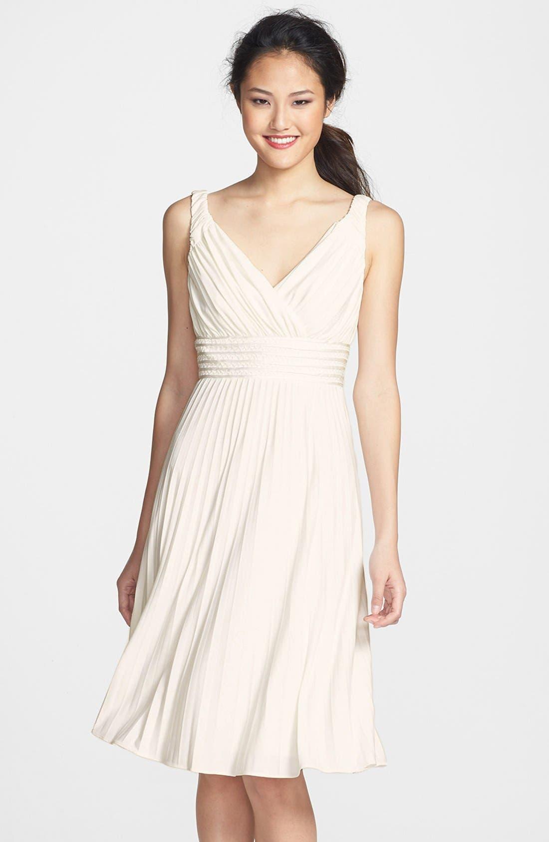 Alternate Image 1  - Ivy & Blu Pleated Jersey Dress