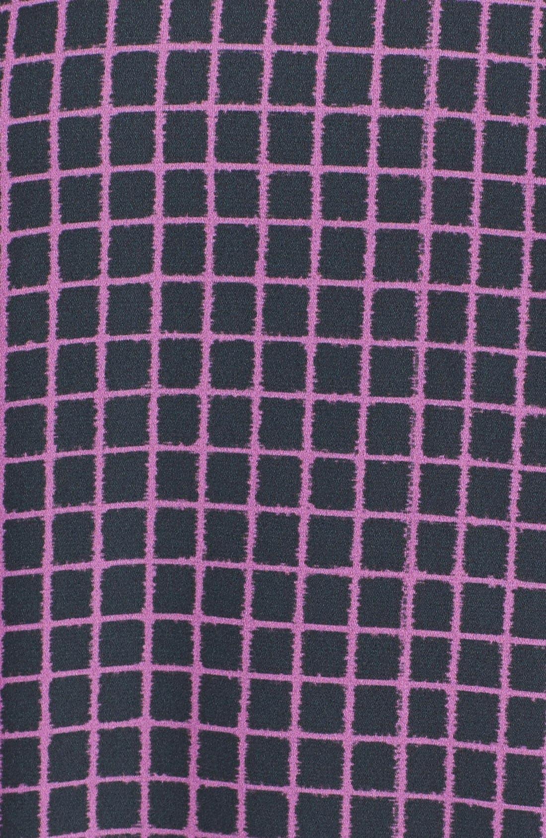 Alternate Image 3  - Halogen® Print Front Woven High-Low Tee (Regular & Petite)