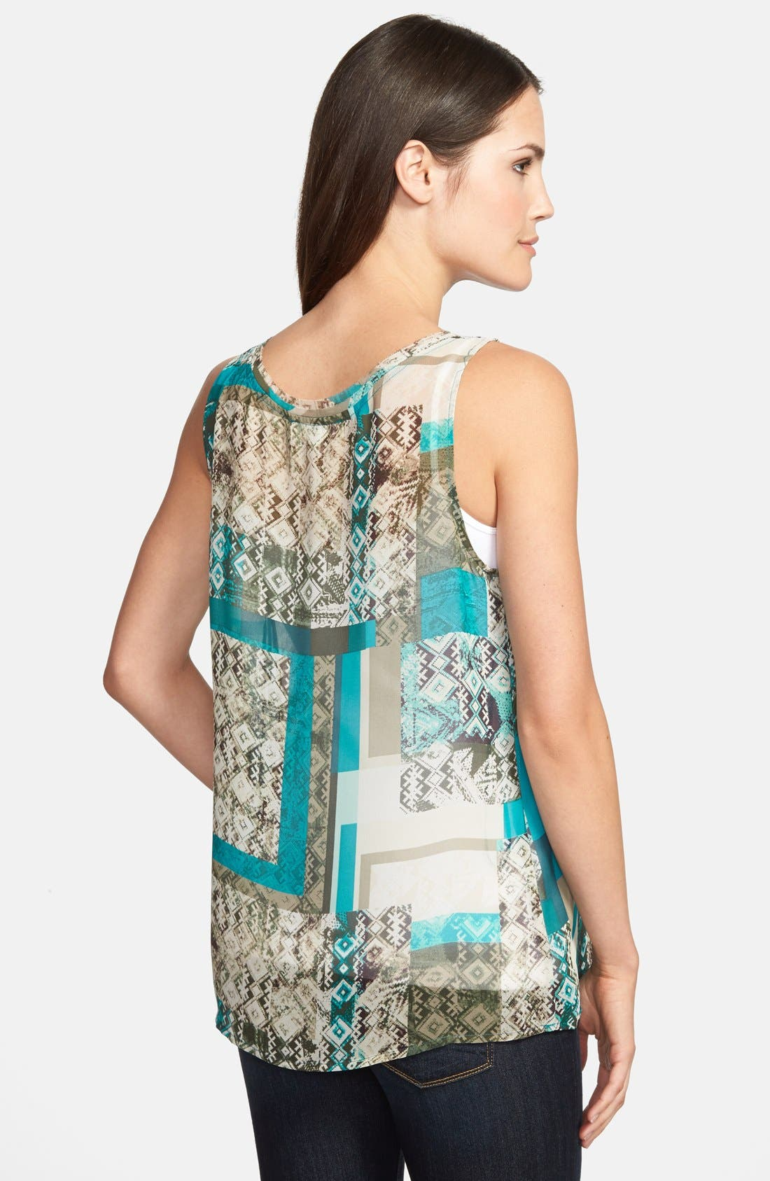 Alternate Image 2  - Two by Vince Camuto 'Bohemian Patchwork' Tank