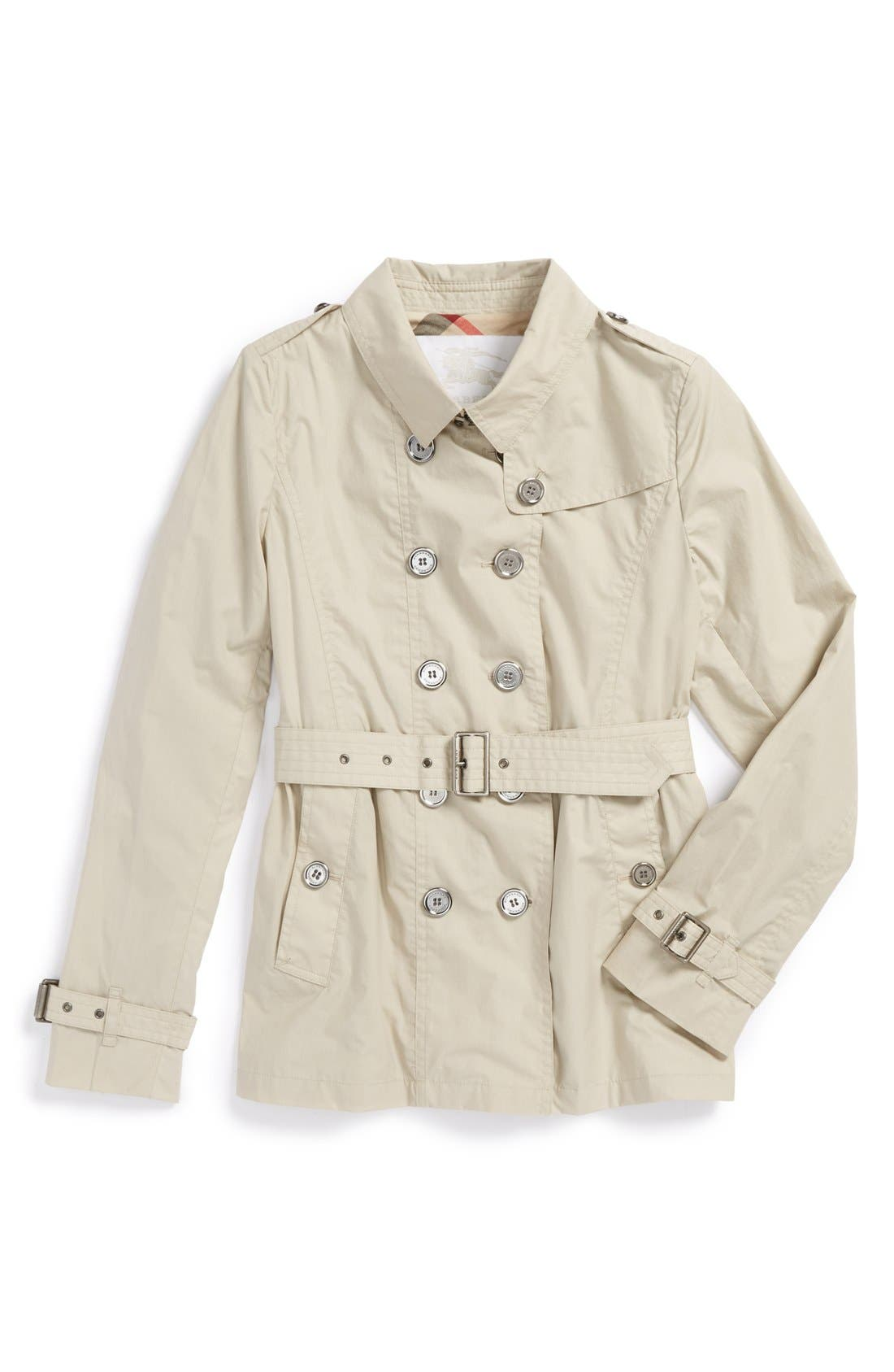 Alternate Image 1 Selected - Burberry Trench Coat (Little Girls & Big Girls)