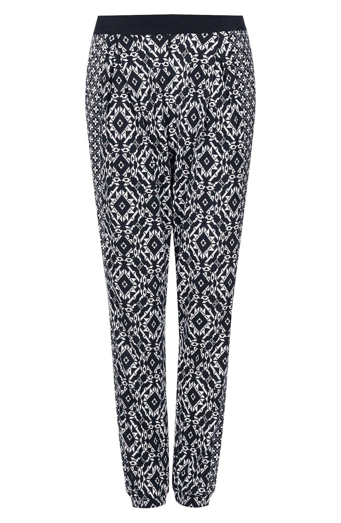 Alternate Image 3  - Topshop Mixed Print Tapered Pants (Regular & Petite)