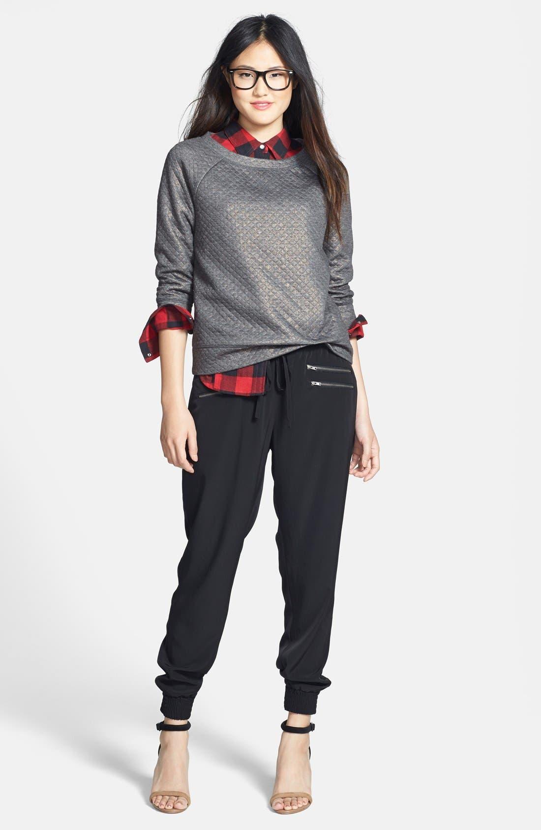 Alternate Image 3  - Halogen® Foiled Sweatshirt (Petite)