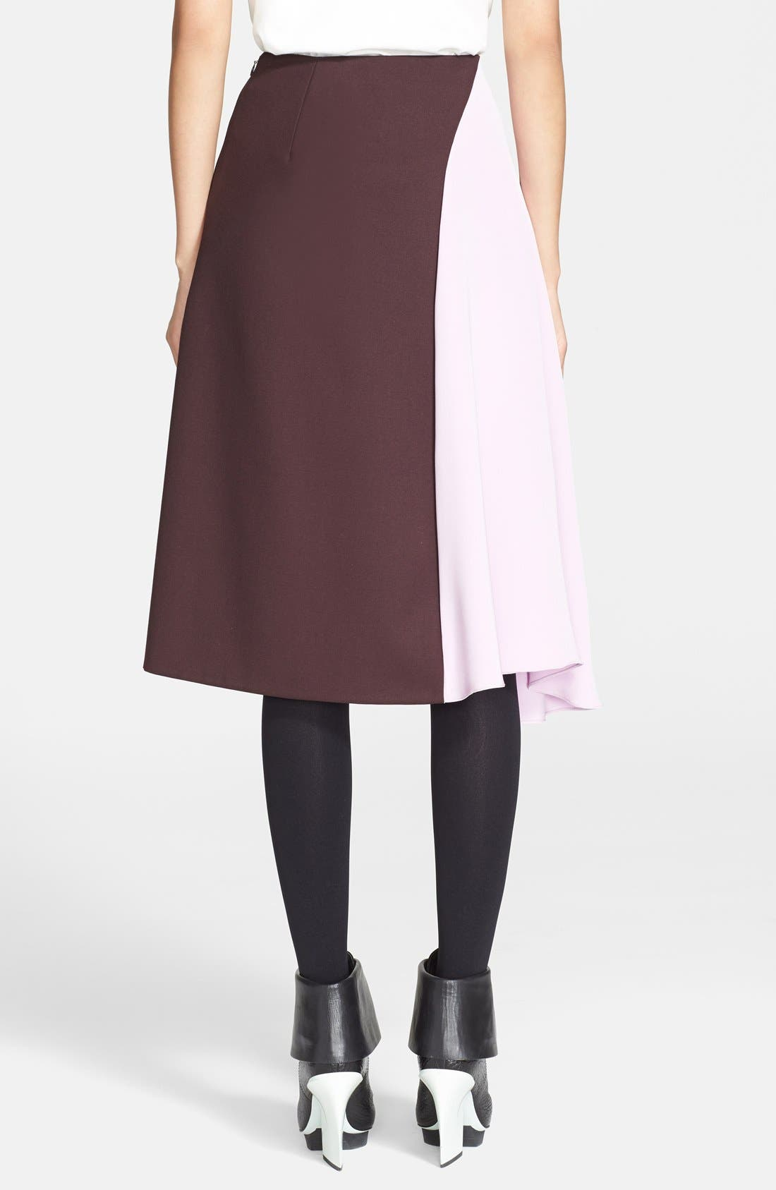 Alternate Image 2  - 3.1 Phillip Lim 'Horizon' Wool & Crêpe de Chine Skirt