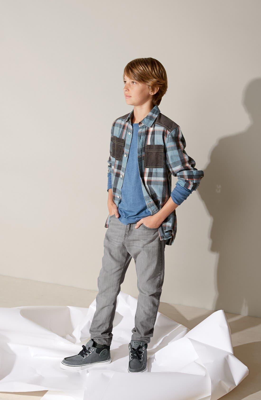 Alternate Image 2  - Tucker + Tate 'Lenny' Contrast Trim Long Sleeve Shirt (Big Boys)
