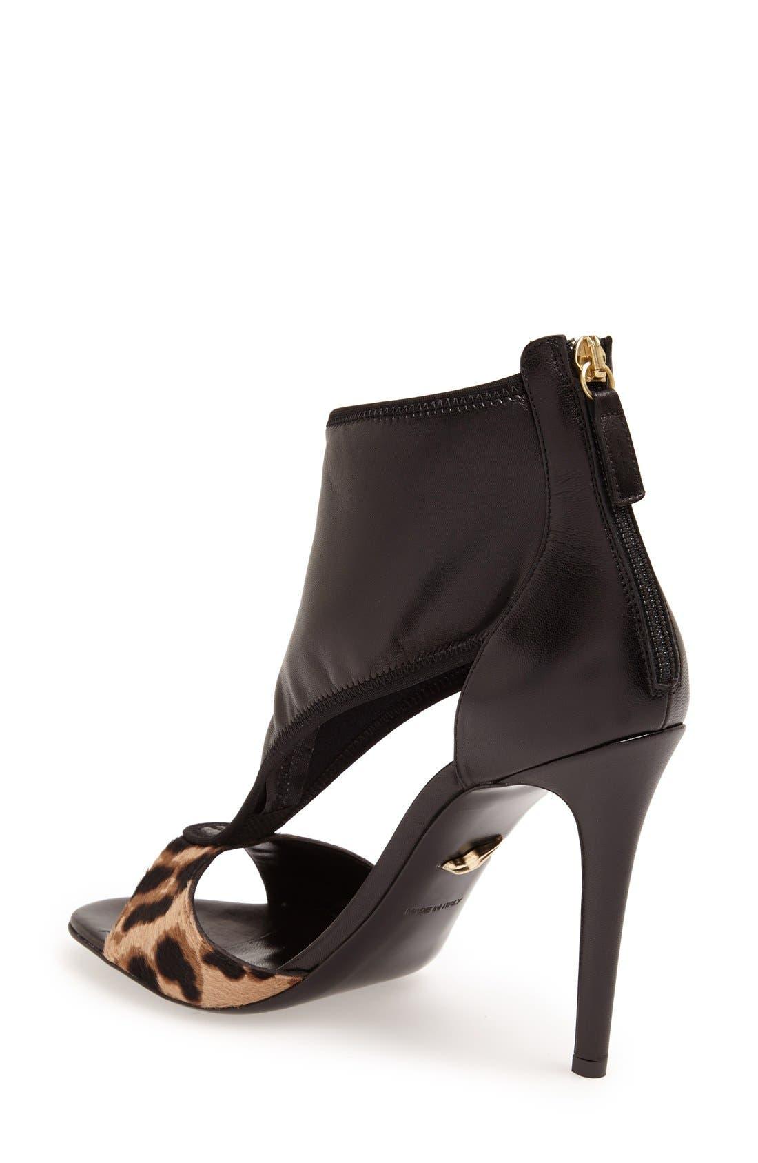 Alternate Image 2  - Diane von Furstenberg 'Uffie' Leather & Calf Hair Sandal