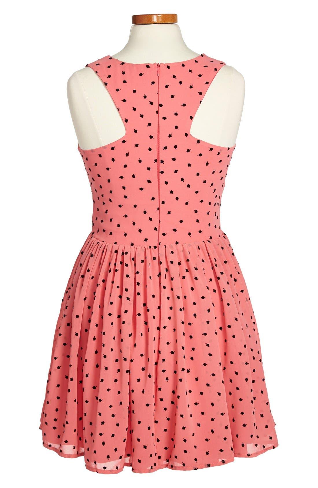 Alternate Image 2  - Miss Behave 'Tulip' Chiffon Dress (Big Girls)