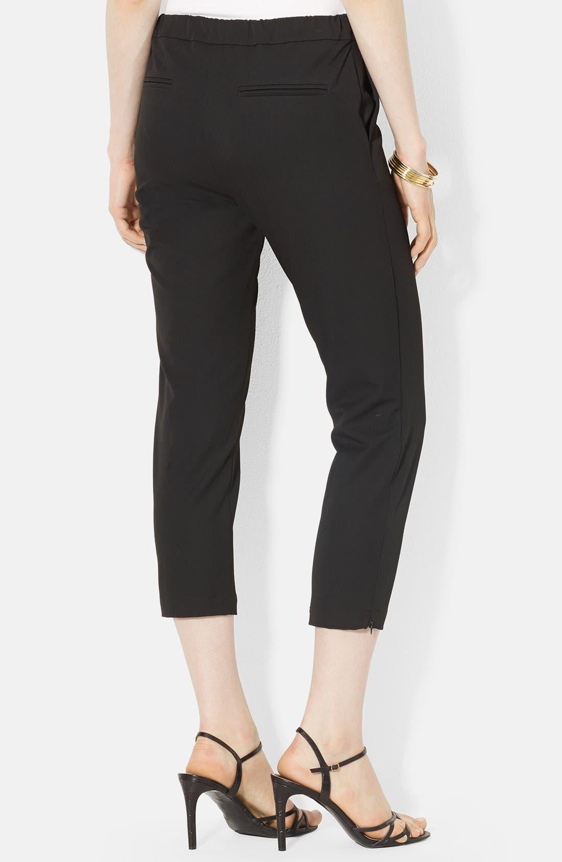 Alternate Image 2  - Lauren Ralph Lauren Stretch Crop Skinny Pants (Petite)