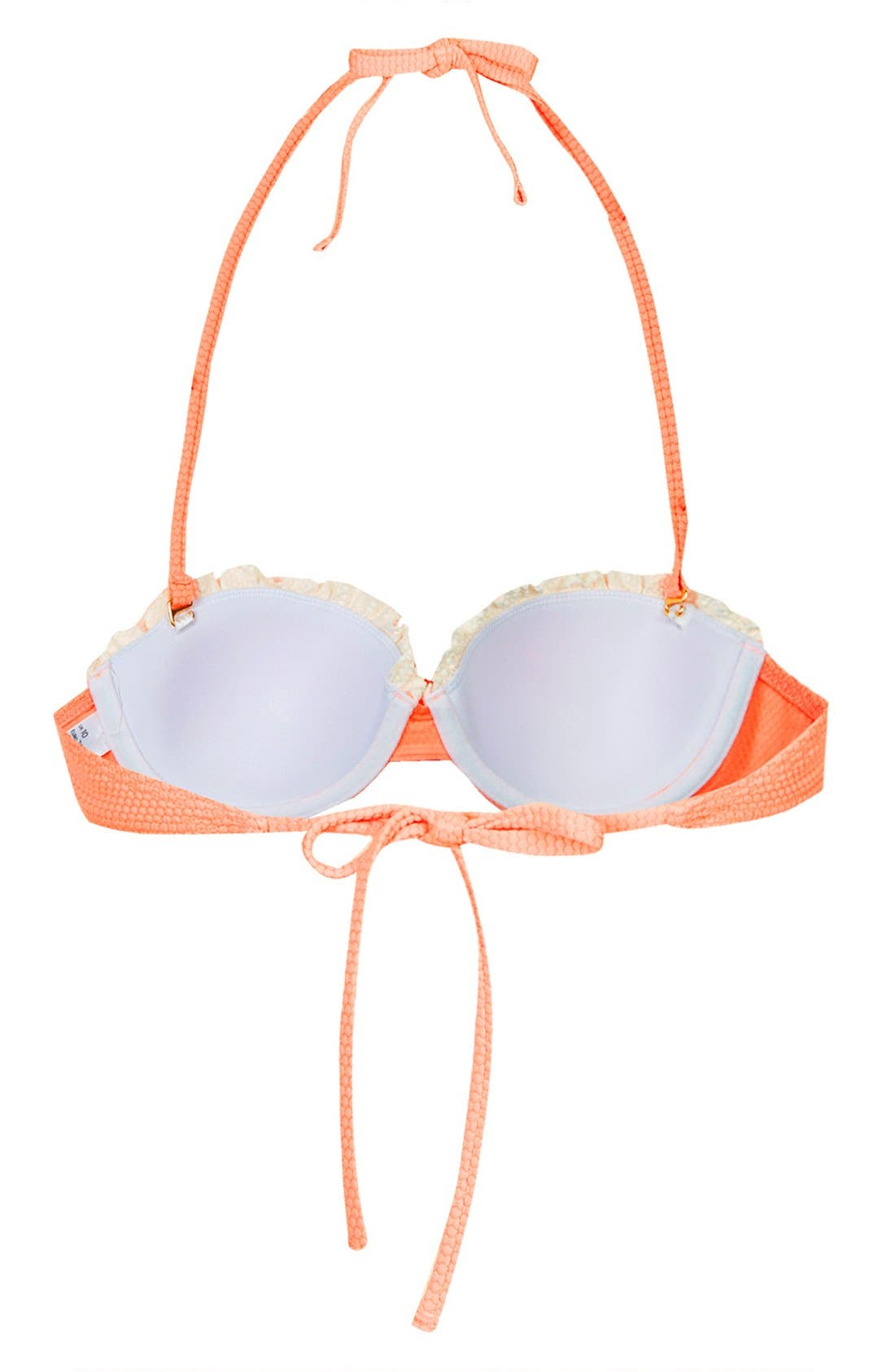 Alternate Image 2  - Topshop Ruffle Trim Push-Up Bikini Top