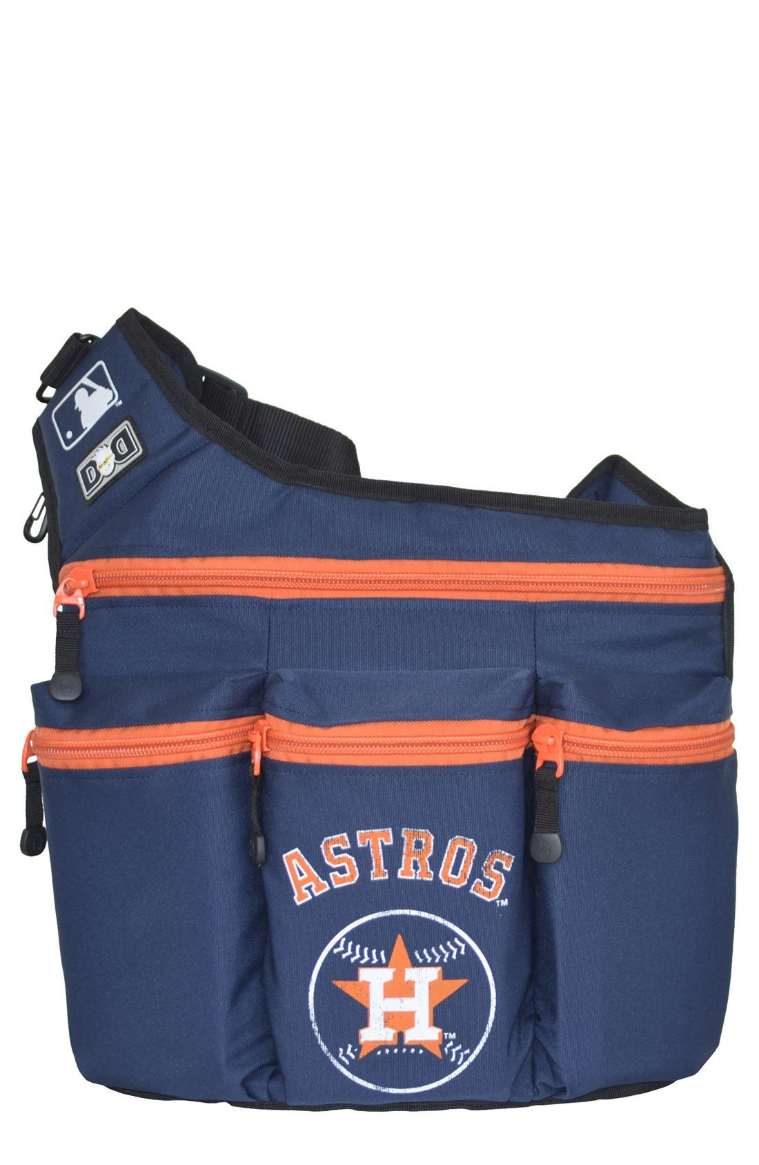 Main Image - Diaper Dude 'Houston Astros' Messenger Diaper Bag