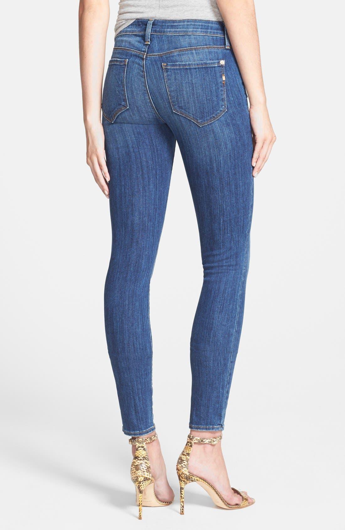 Alternate Image 2  - Genetic 'Stem' Mid Rise Skinny Jeans (Arena)