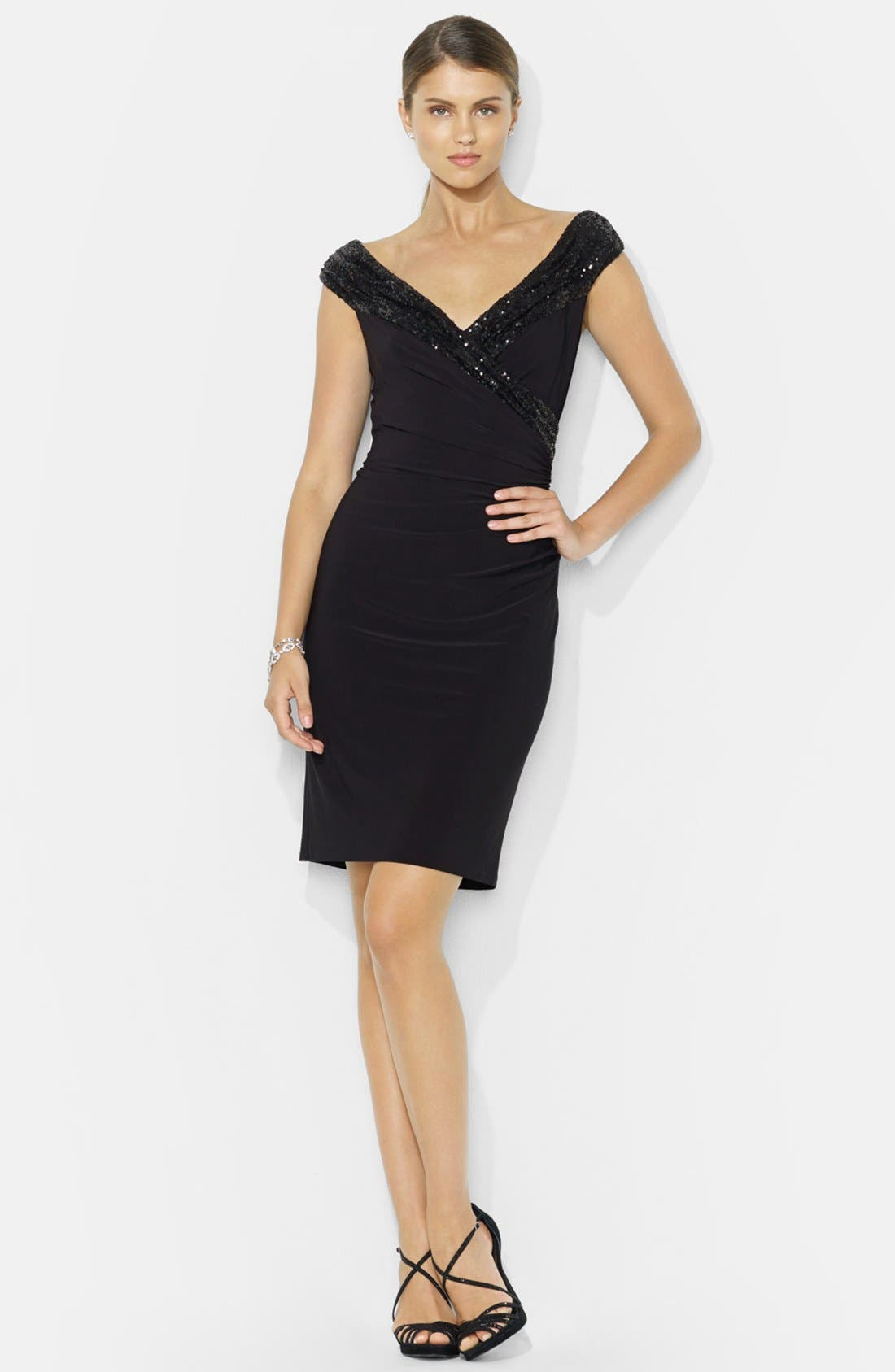 Alternate Image 3  - Lauren Ralph Lauren Sequin Sheath Dress