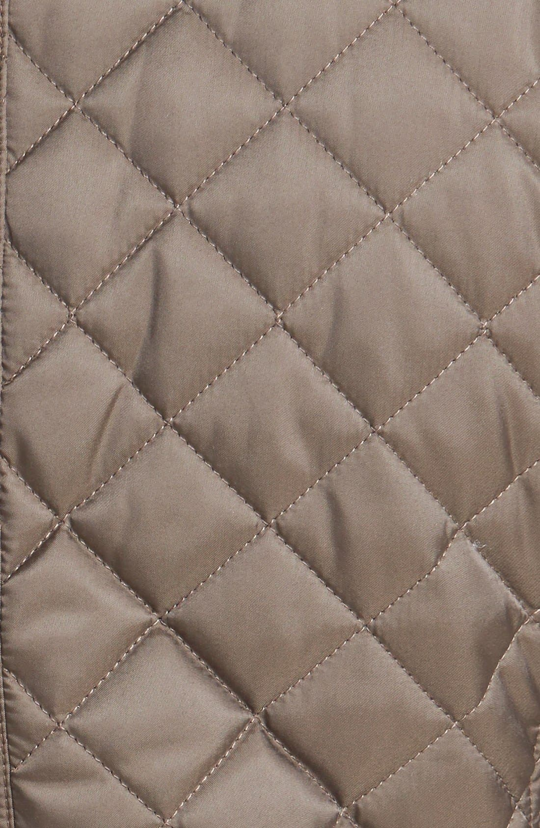 Alternate Image 4  - Laundry by Shelli Segal Quilted Jacket with Removable Hood (Regular & Petite)