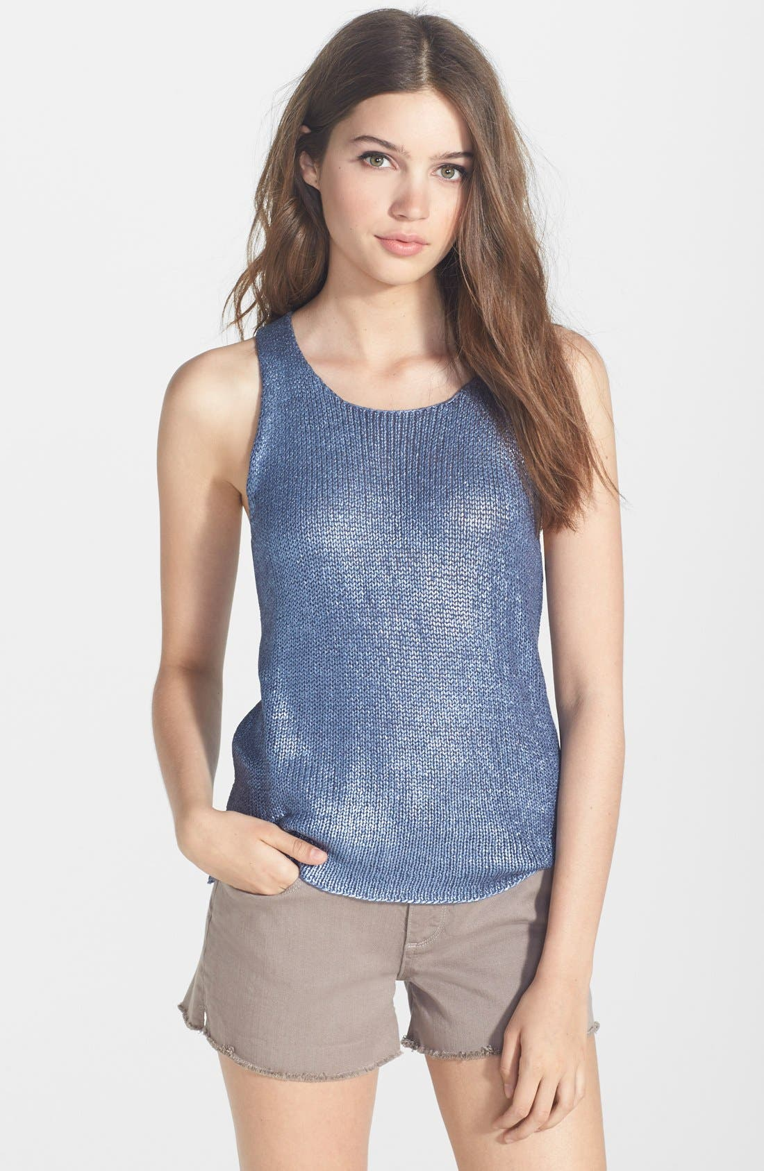 Alternate Image 1 Selected - Sanctuary 'Mermaid' Coated Knit Tank