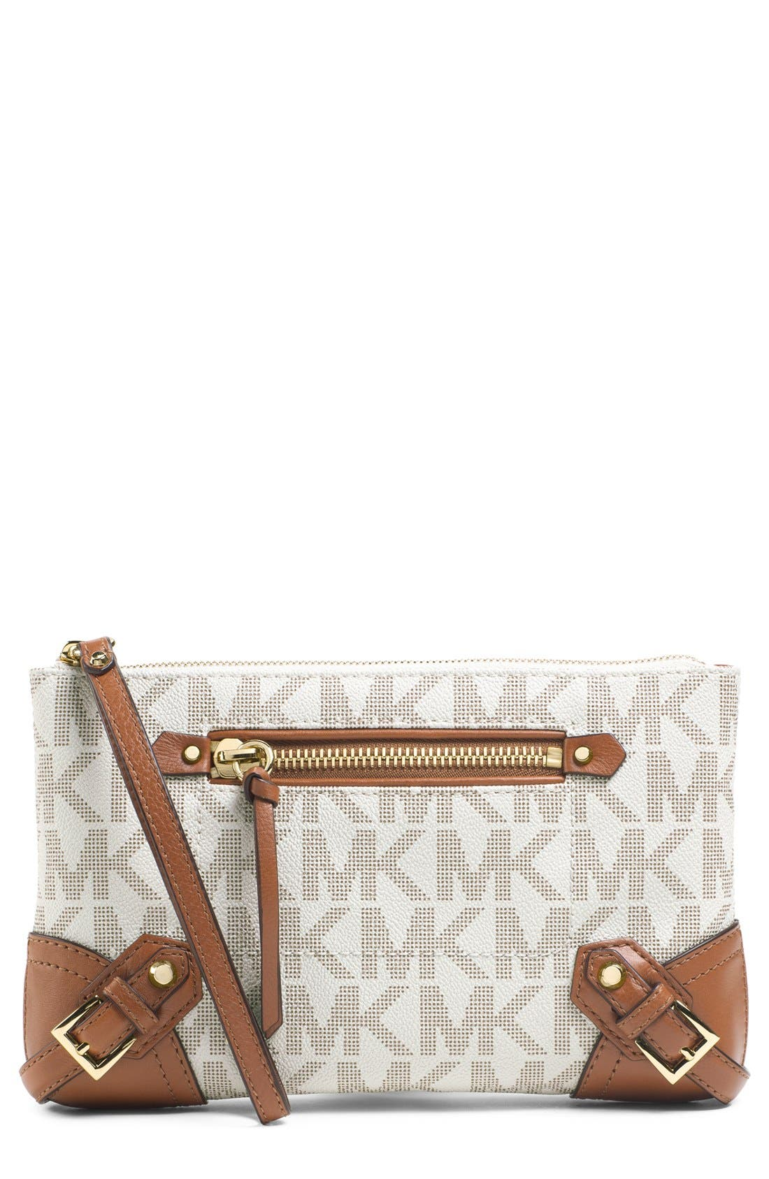 Alternate Image 1 Selected - MICHAEL Michael Kors 'Large Fallon' Zip Clutch