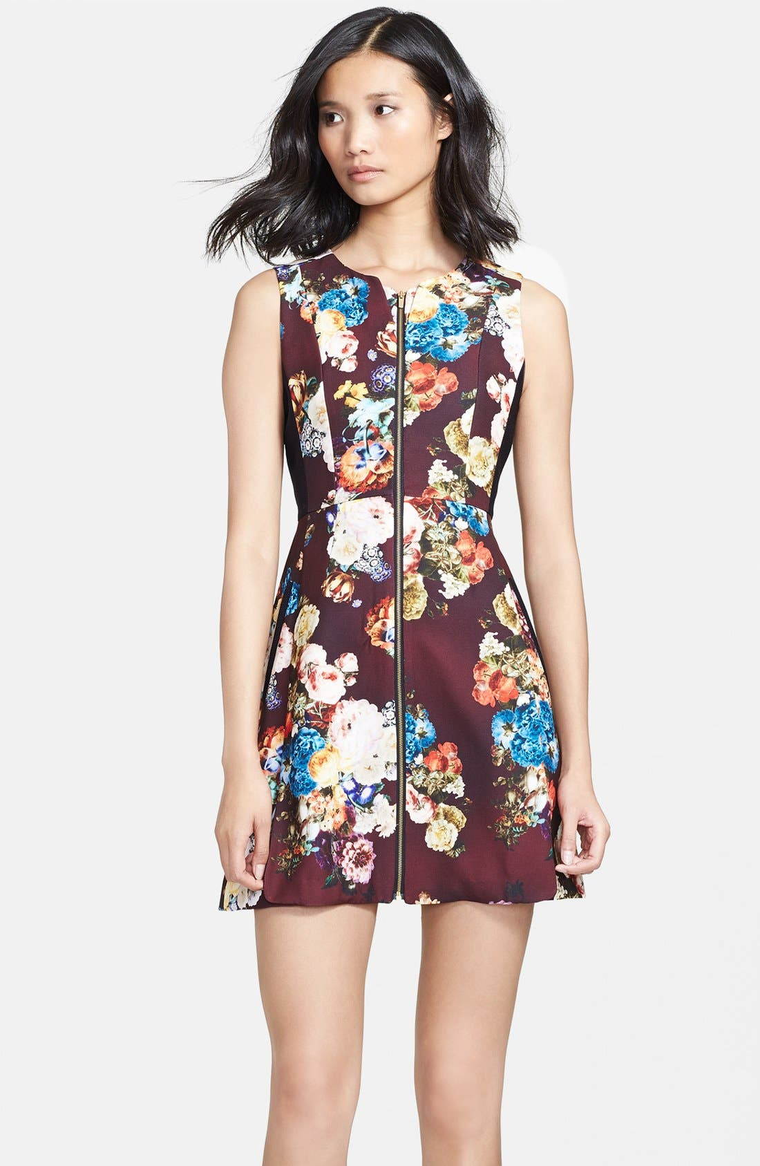 Alternate Image 3  - Mcginn 'Emily' Zip Front Print Fit & Flare Dress