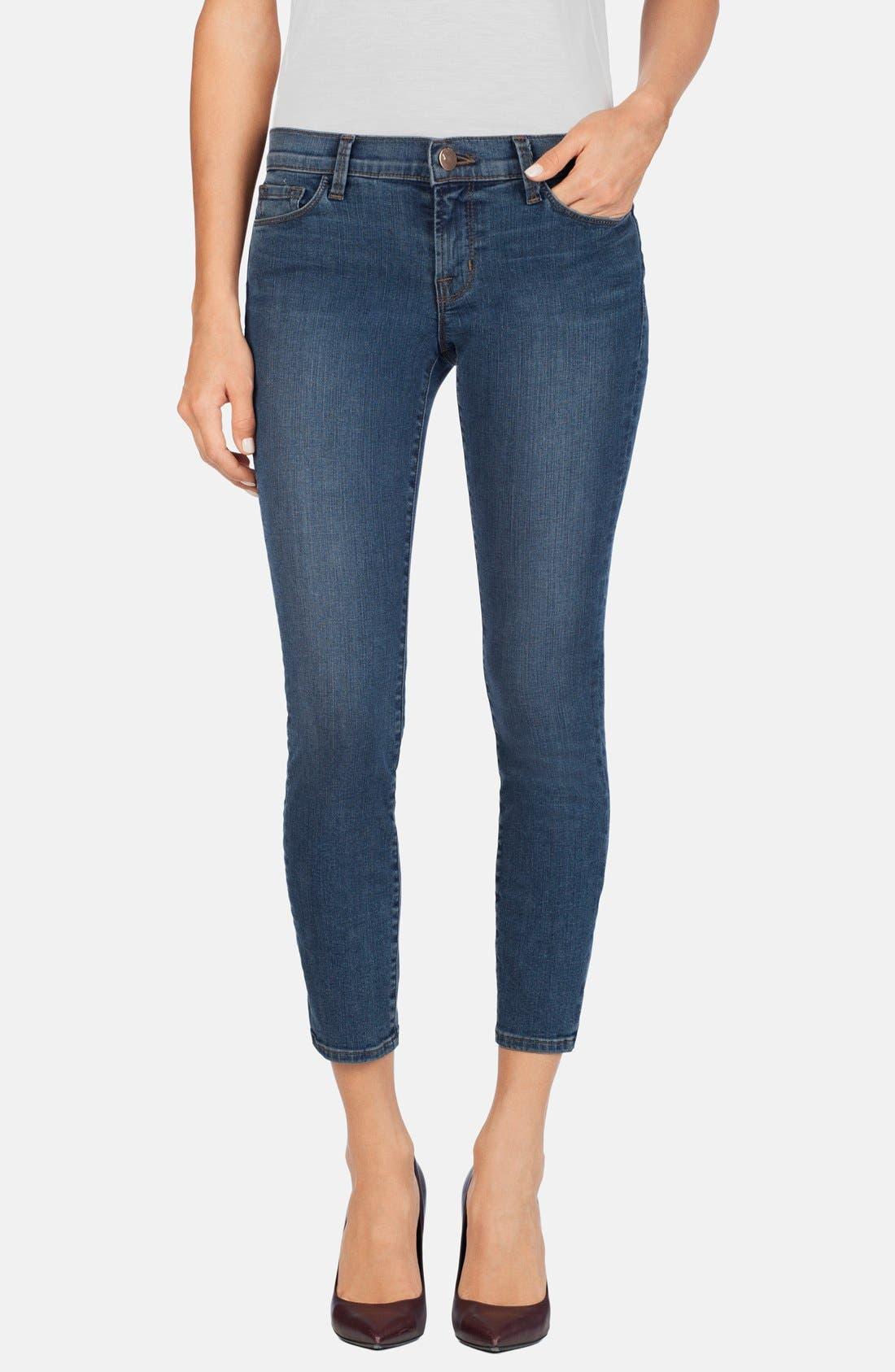 Main Image - J Brand Mid Rise Crop Skinny Jeans (Beloved)