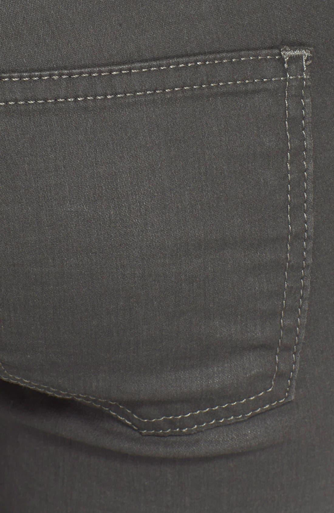 Alternate Image 3  - Current/Elliott 'The Soho Zip' Skinny Jeans (Castle Coated)