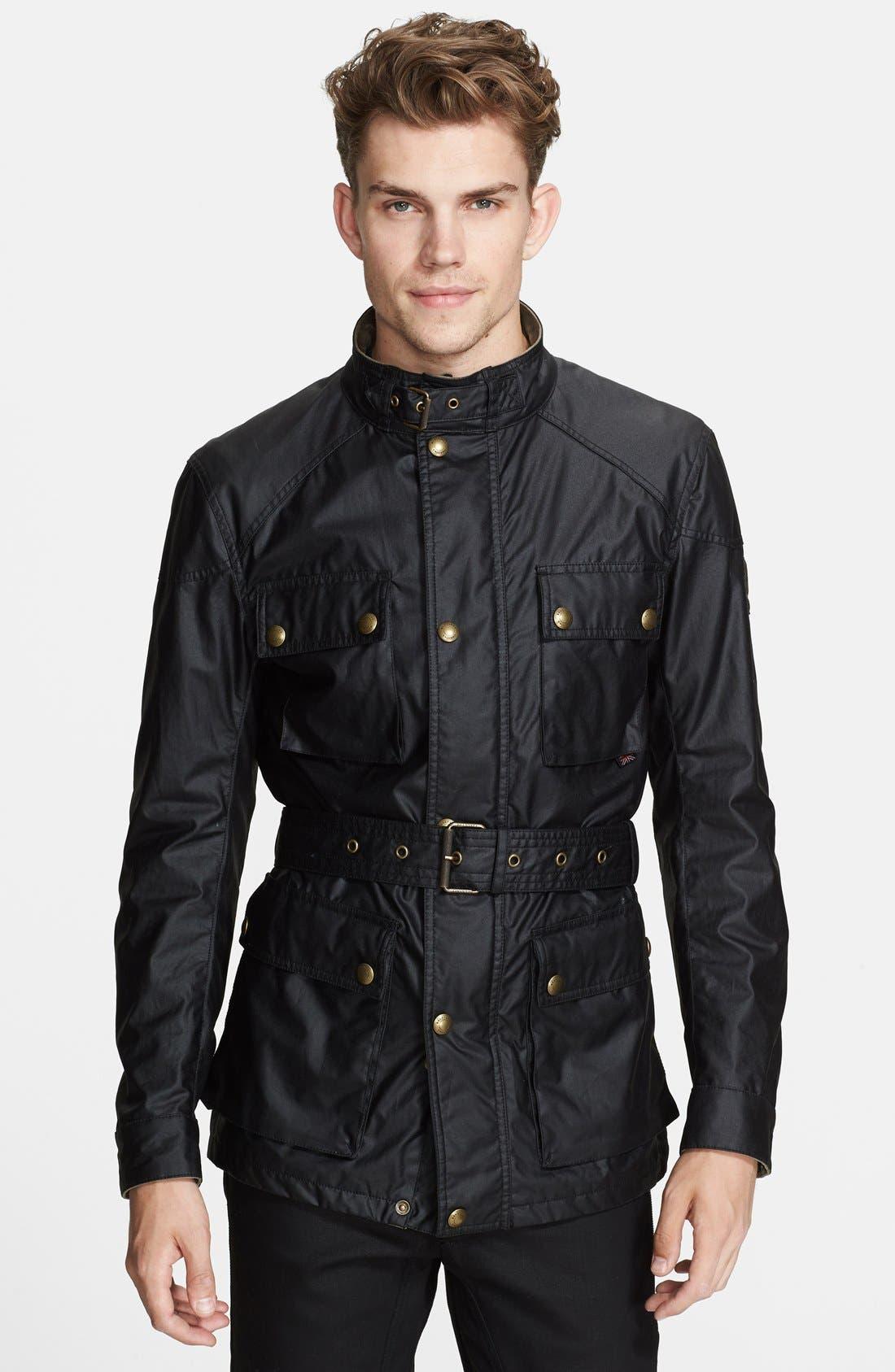 Main Image - Belstaff 'Roadmaster' Wax Coated Moto Jacket