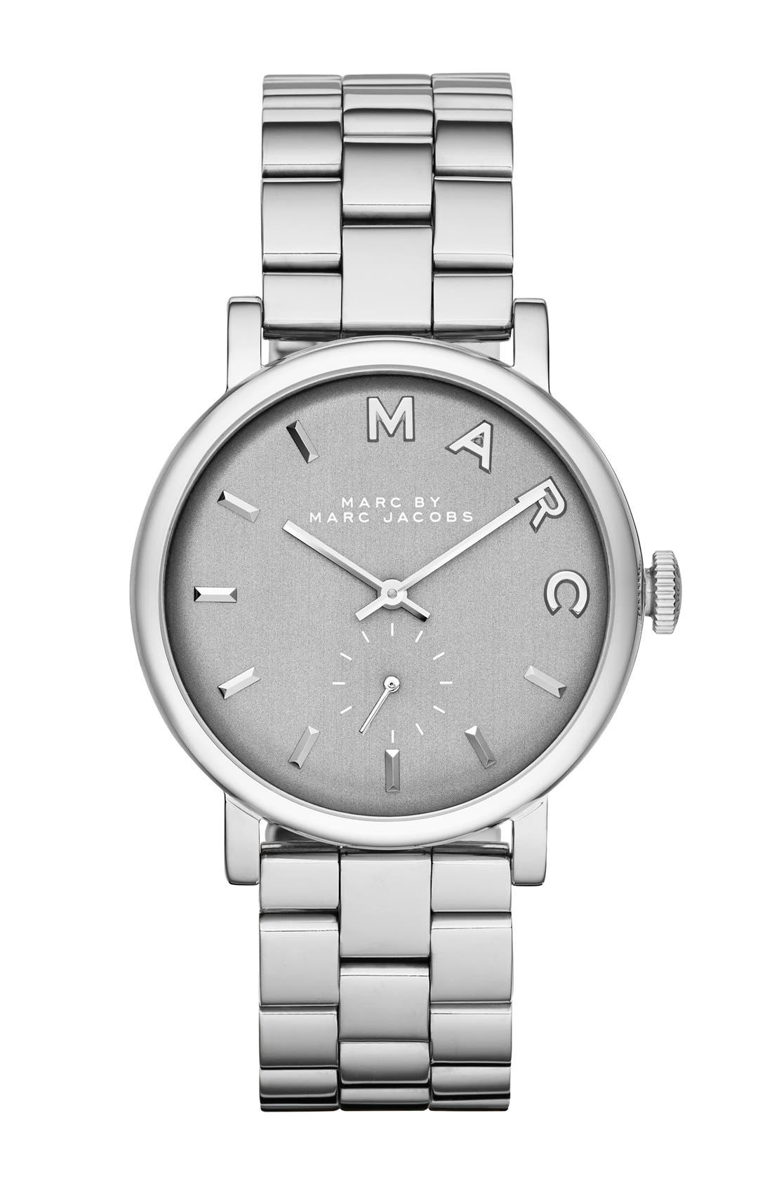Main Image - MARC JACOBS 'Baker' Bracelet Watch, 36mm (Nordstrom Exclusive)