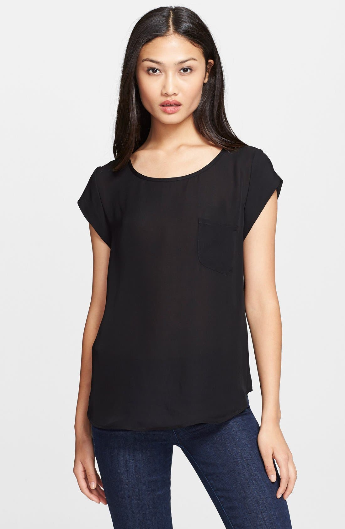 Main Image - Joie 'Rancher' Silk Pocket Top