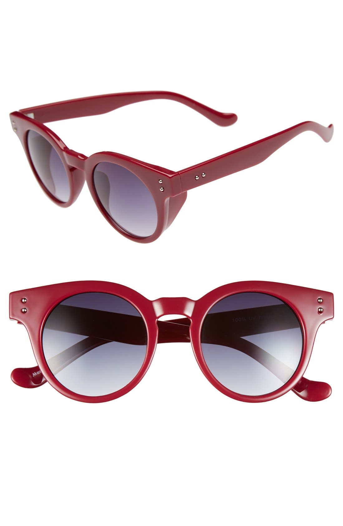 Alternate Image 1 Selected - FE NY 45mm Round Retro Sunglasses