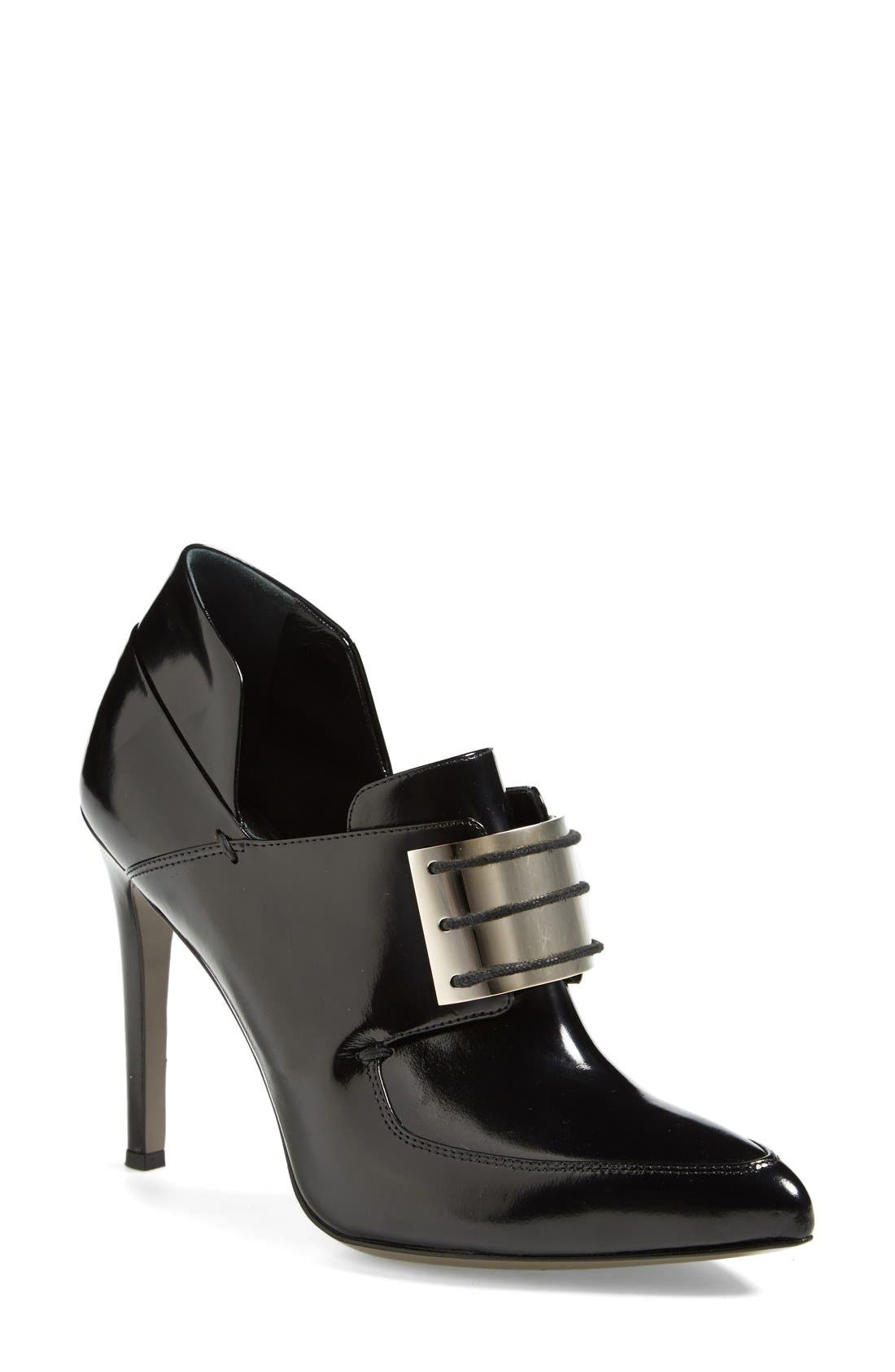Alternate Image 1 Selected - Jason Wu Metal Plate Lace-Up Leather Loafer Bootie (Women)