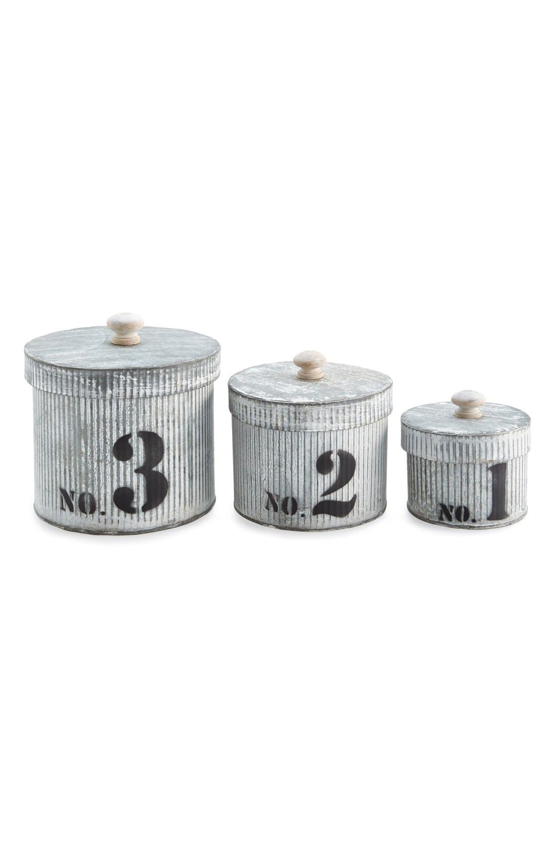 Alternate Image 1 Selected - Oré Originals Galvanized Metal Bins (Set of 3)