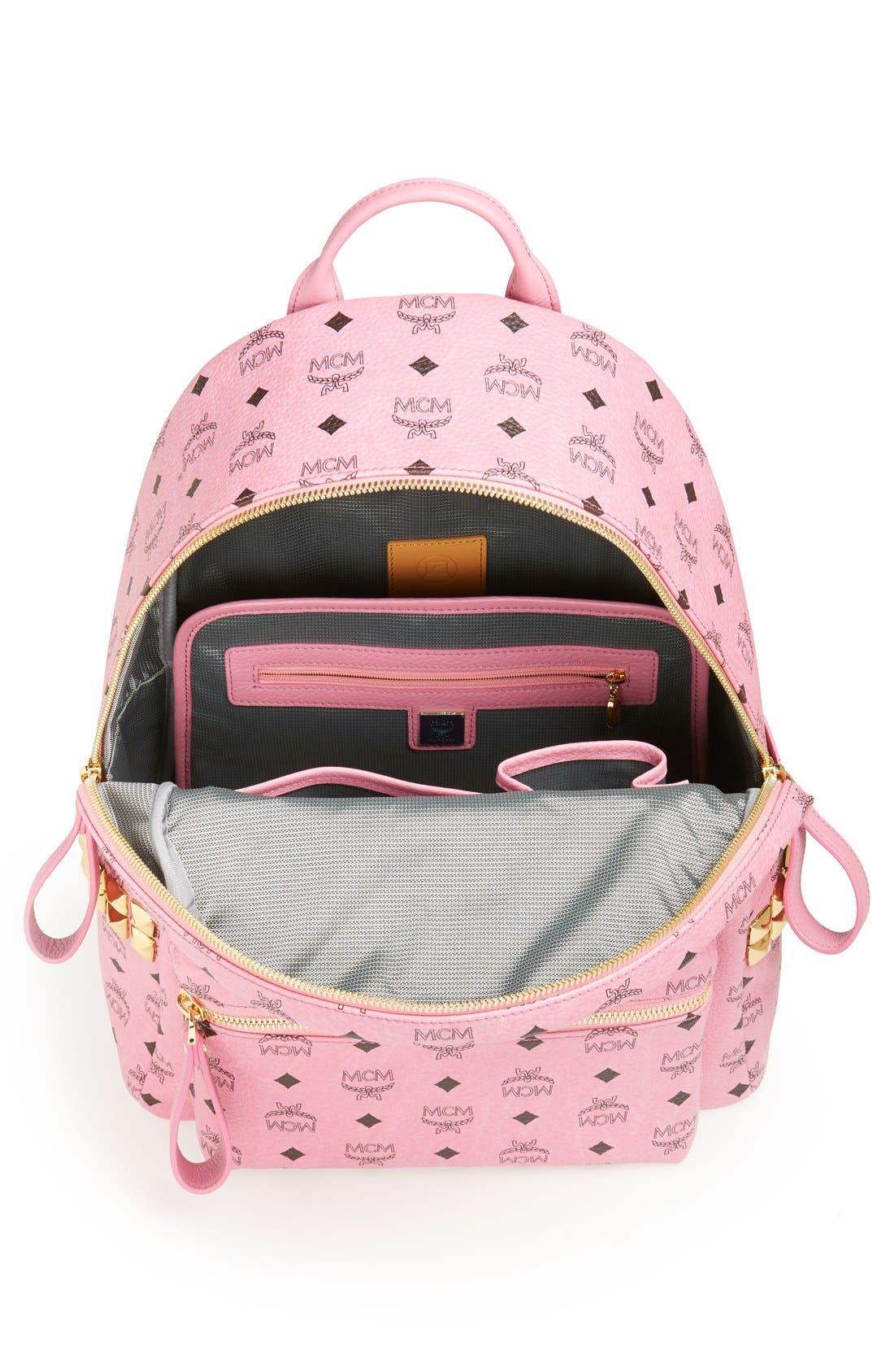 Alternate Image 2  - MCM 'Medium Stark - Visetos' Studded Backpack