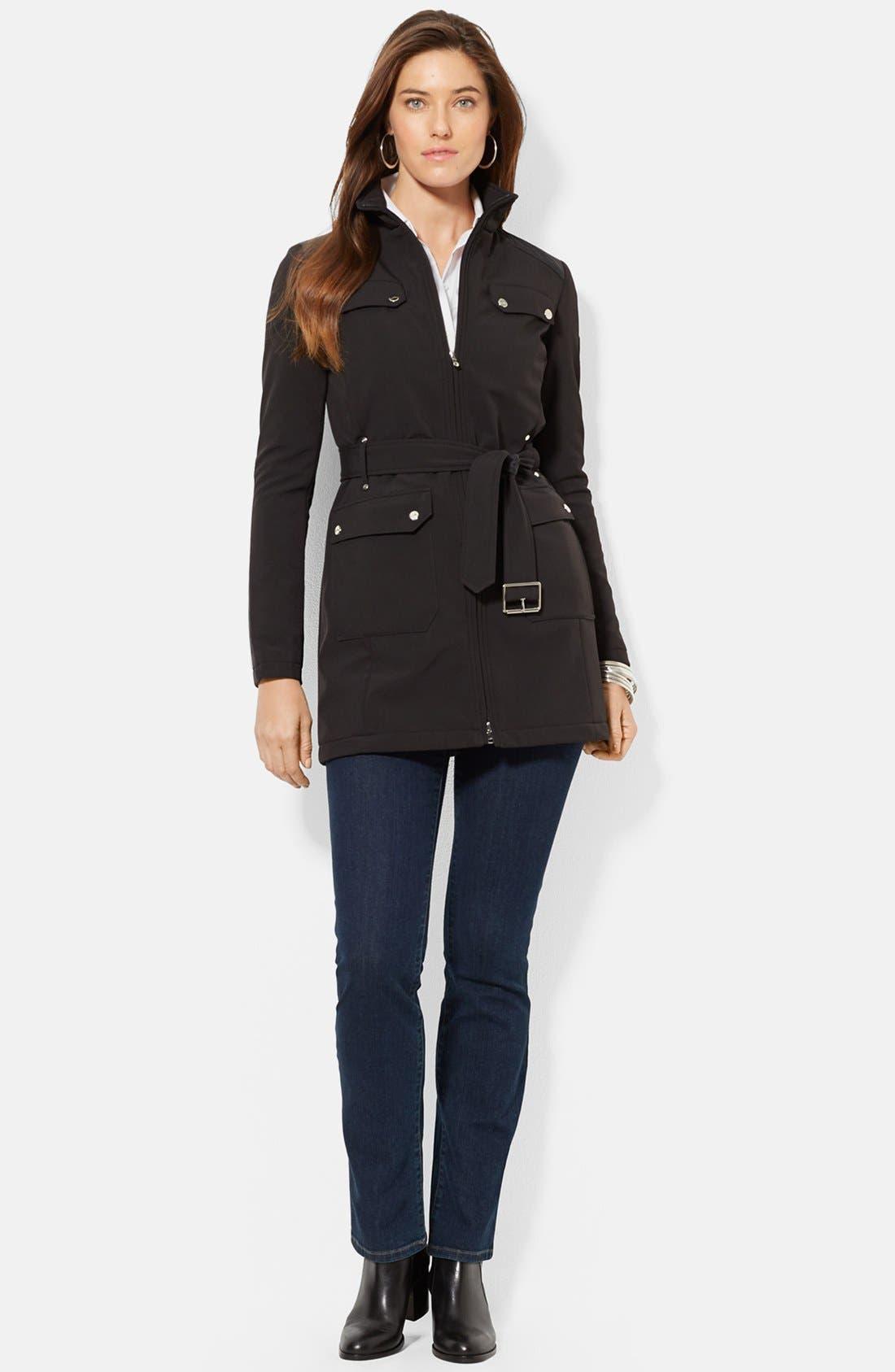 Alternate Image 2  - Lauren Ralph Lauren Belted Soft Shell Jacket (Online Only)