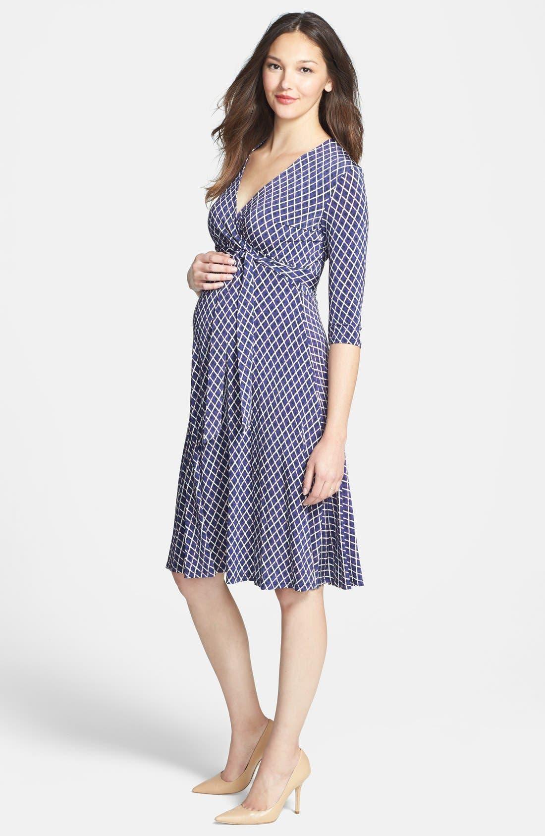 Main Image - Leota 'Perfect Wrap' Maternity Dress