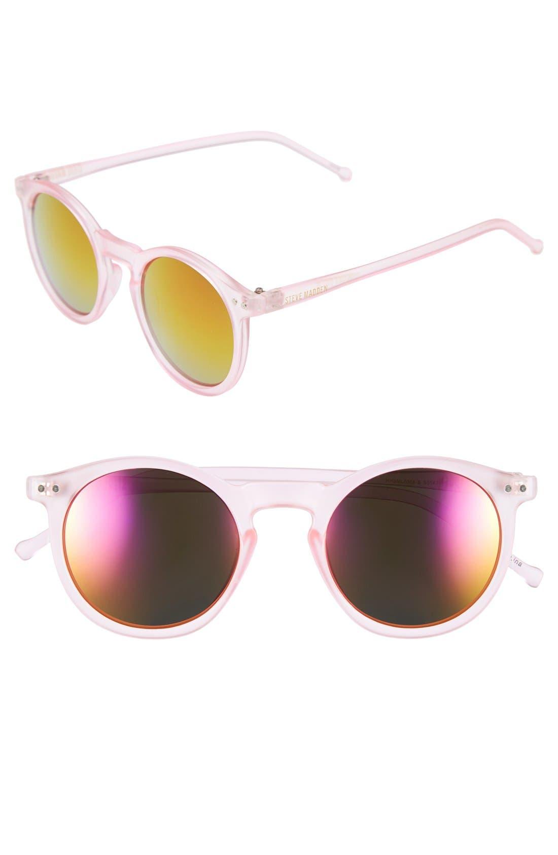 Main Image - Steve Madden 49mm Round Sunglasses