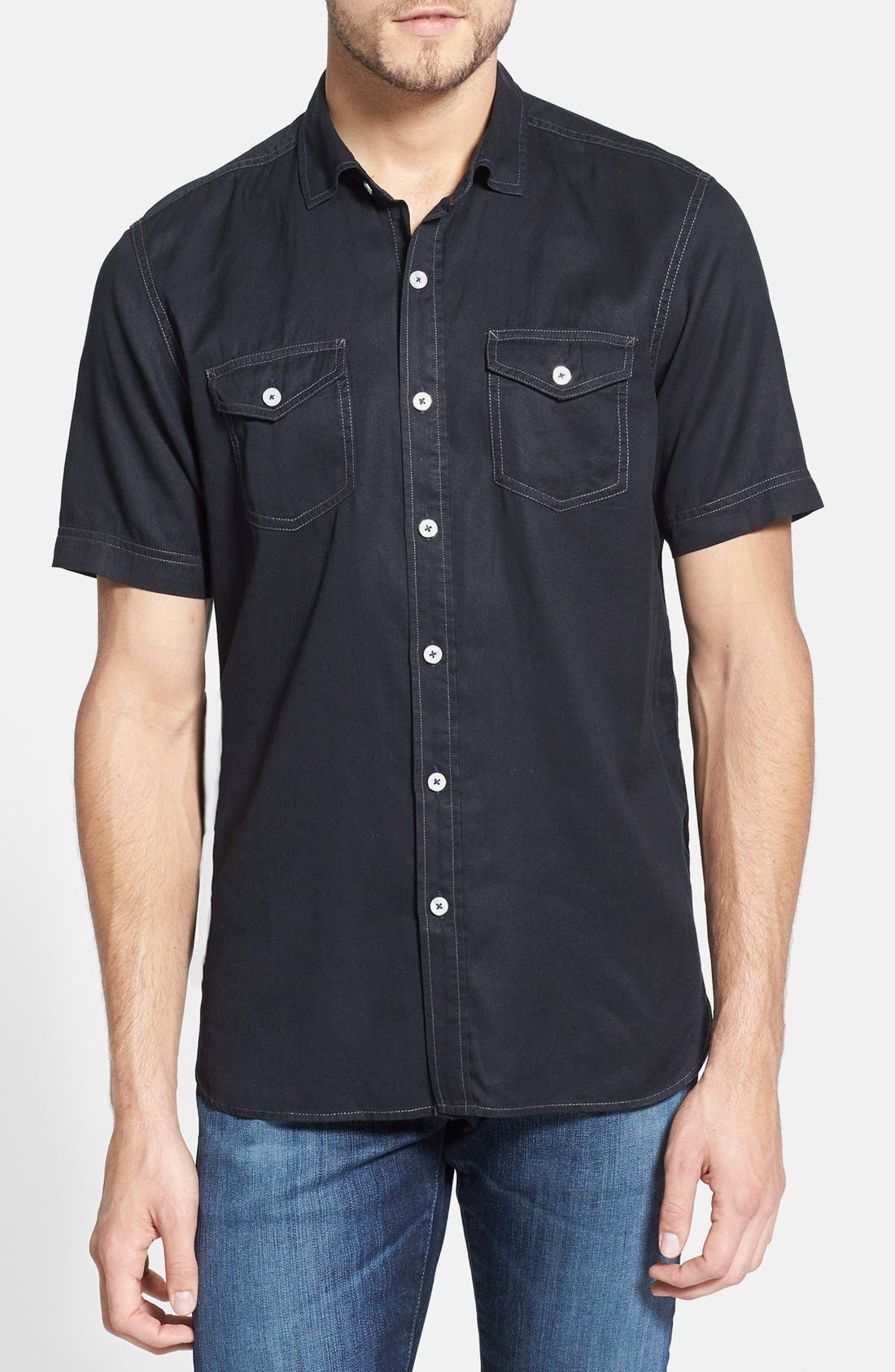 Alternate Image 1 Selected - Tommy Bahama Denim 'Twilly Junior' Island Modern Fit Sport Shirt
