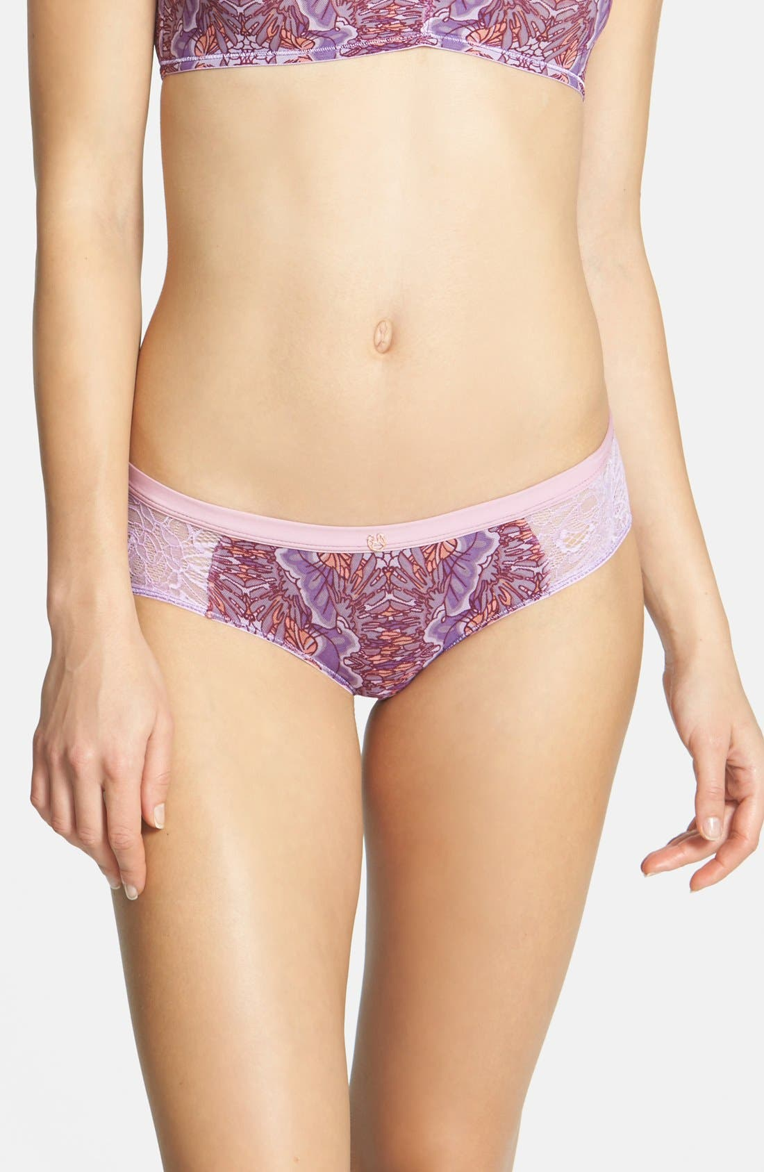 Alternate Image 1 Selected - Maaji 'Fluttering Wings' Lace Boyshorts