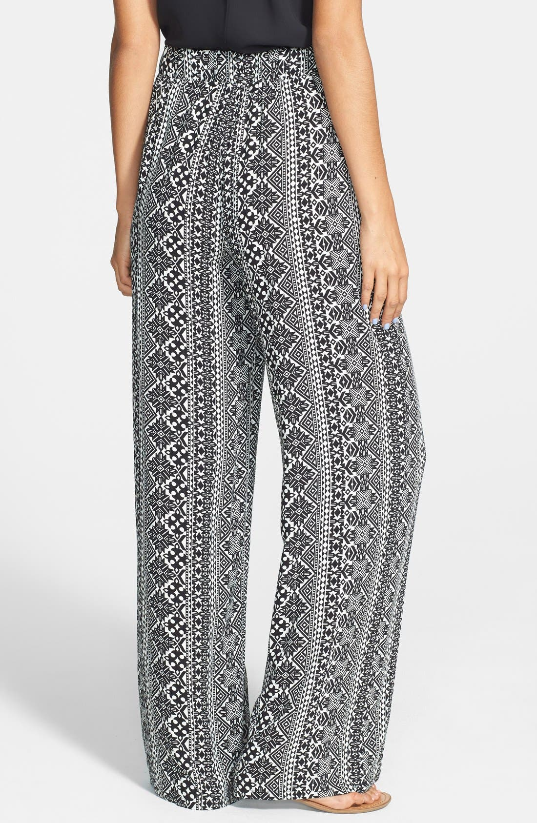 Alternate Image 2  - Socialite Print Palazzo Pants (Juniors)