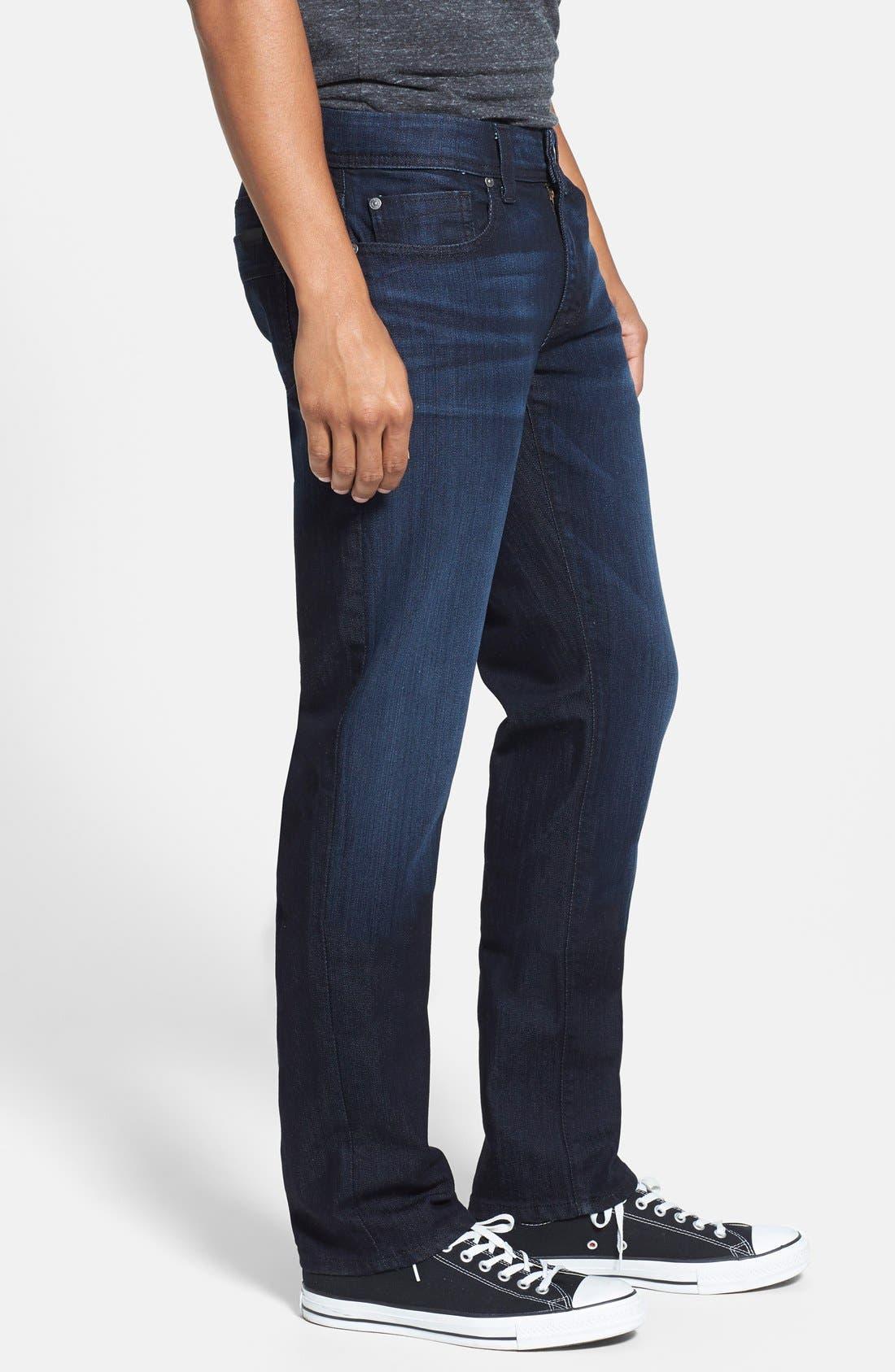 Alternate Image 3  - Fidelity Denim 'Jimmy' Slim Straight Leg Jeans (Blue/Black)