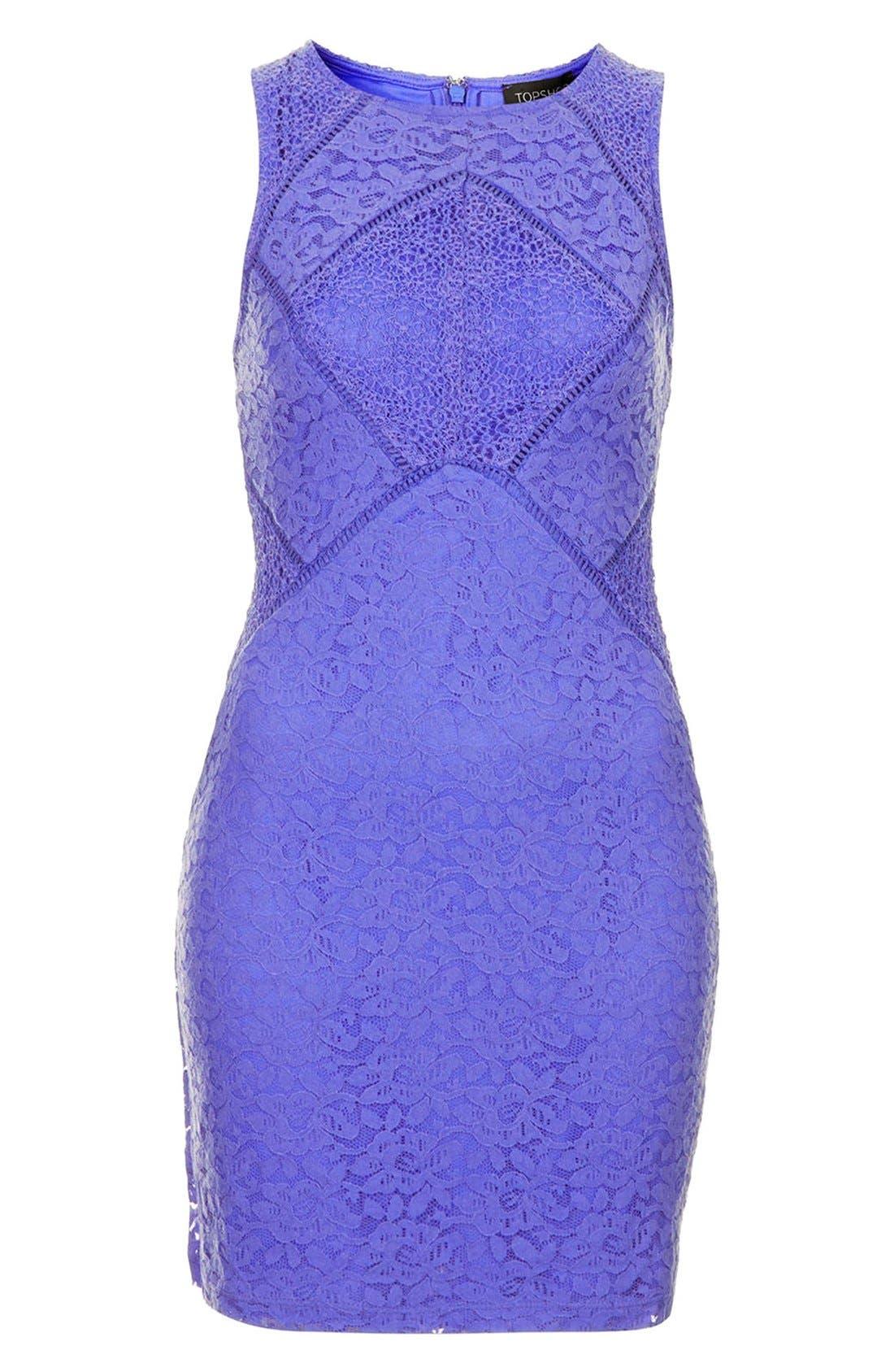 Alternate Image 3  - Topshop Lace Mix Body-Con Dress