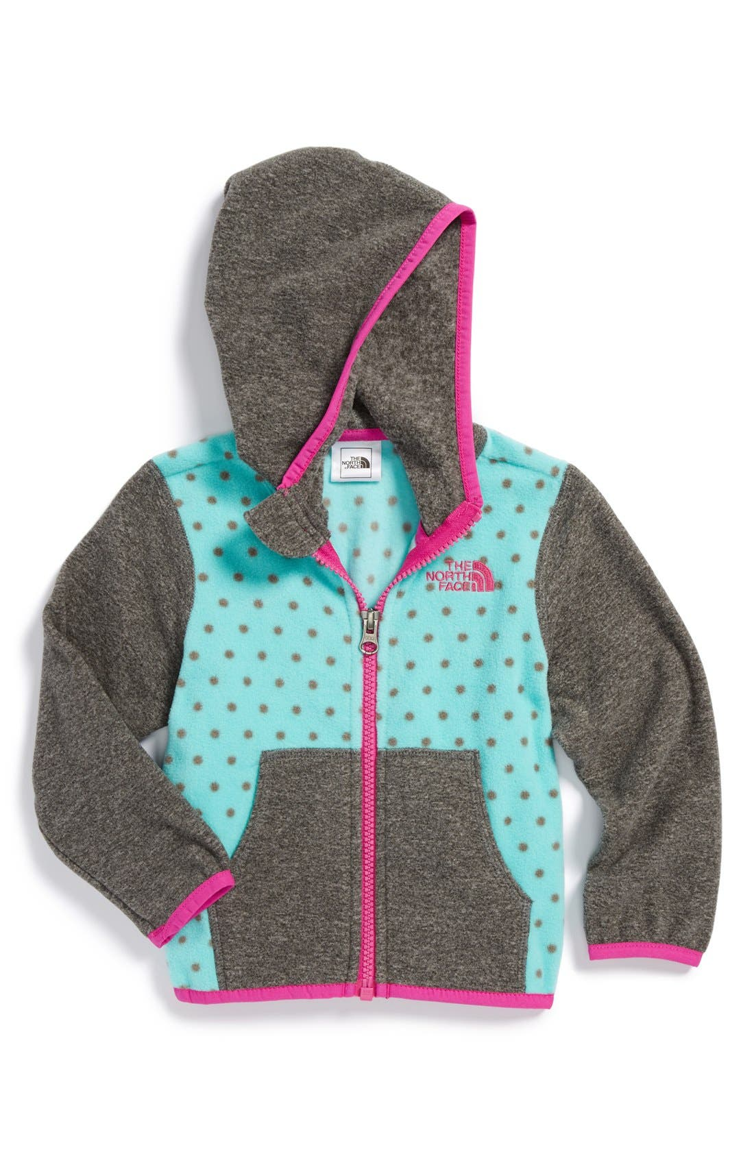 Alternate Image 1 Selected - The North Face 'Glacier' Full Zip Fleece Hoodie (Baby Girls)