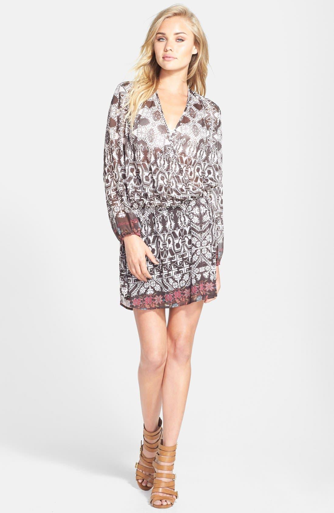 Alternate Image 1 Selected - Wayf Long Sleeve Wrap Dress