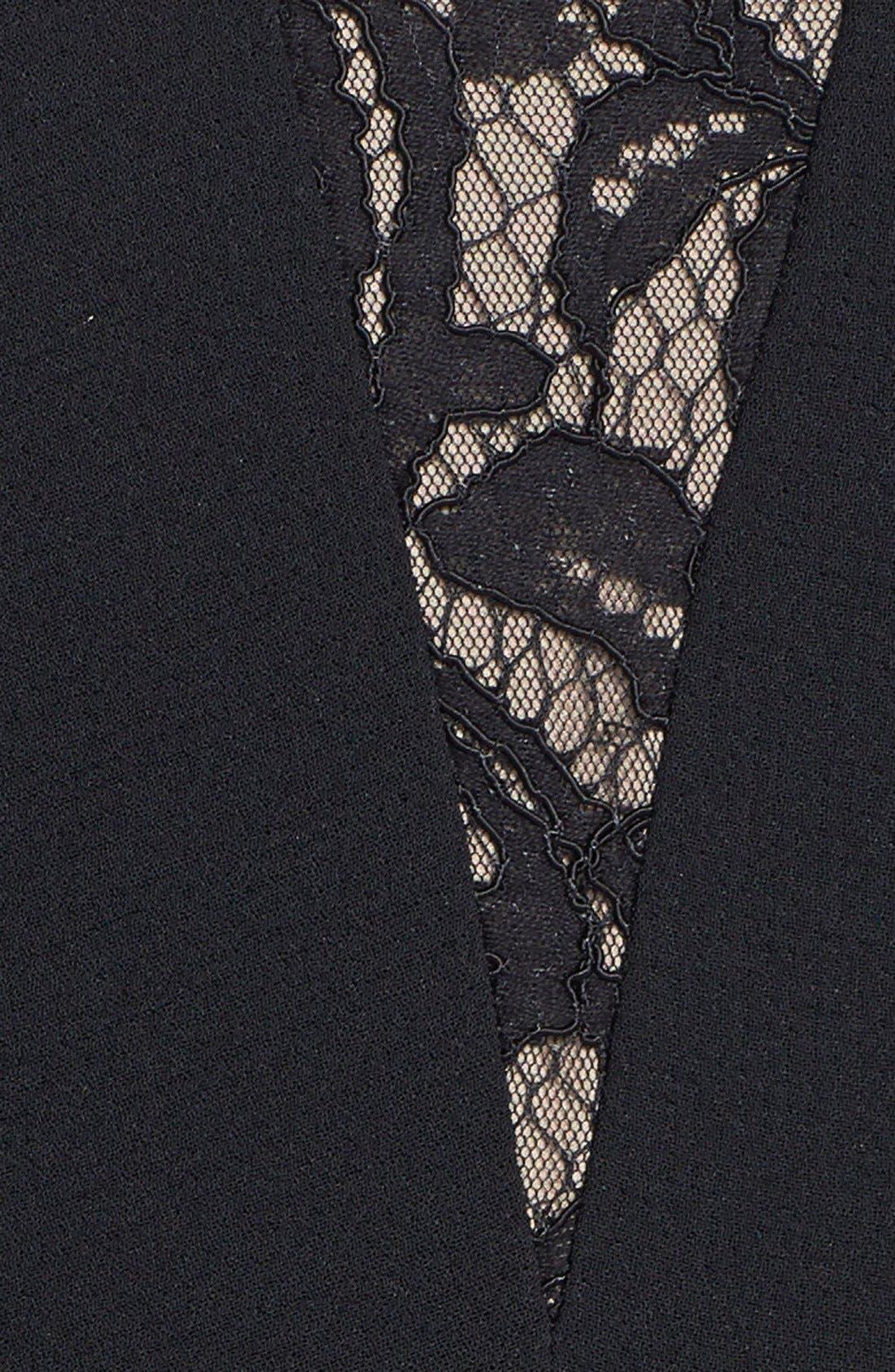 Alternate Image 3  - BCBGMAXAZRIA 'Silva' Lace Inset Crepe Peplum Gown