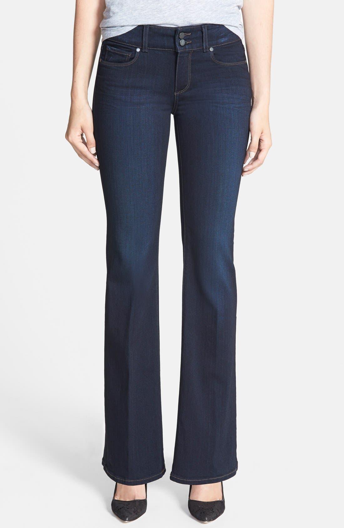 Alternate Image 1 Selected - PAIGE 'Transcend - Hidden Hills' Bootcut Stretch Jeans (Mona) (Petite)