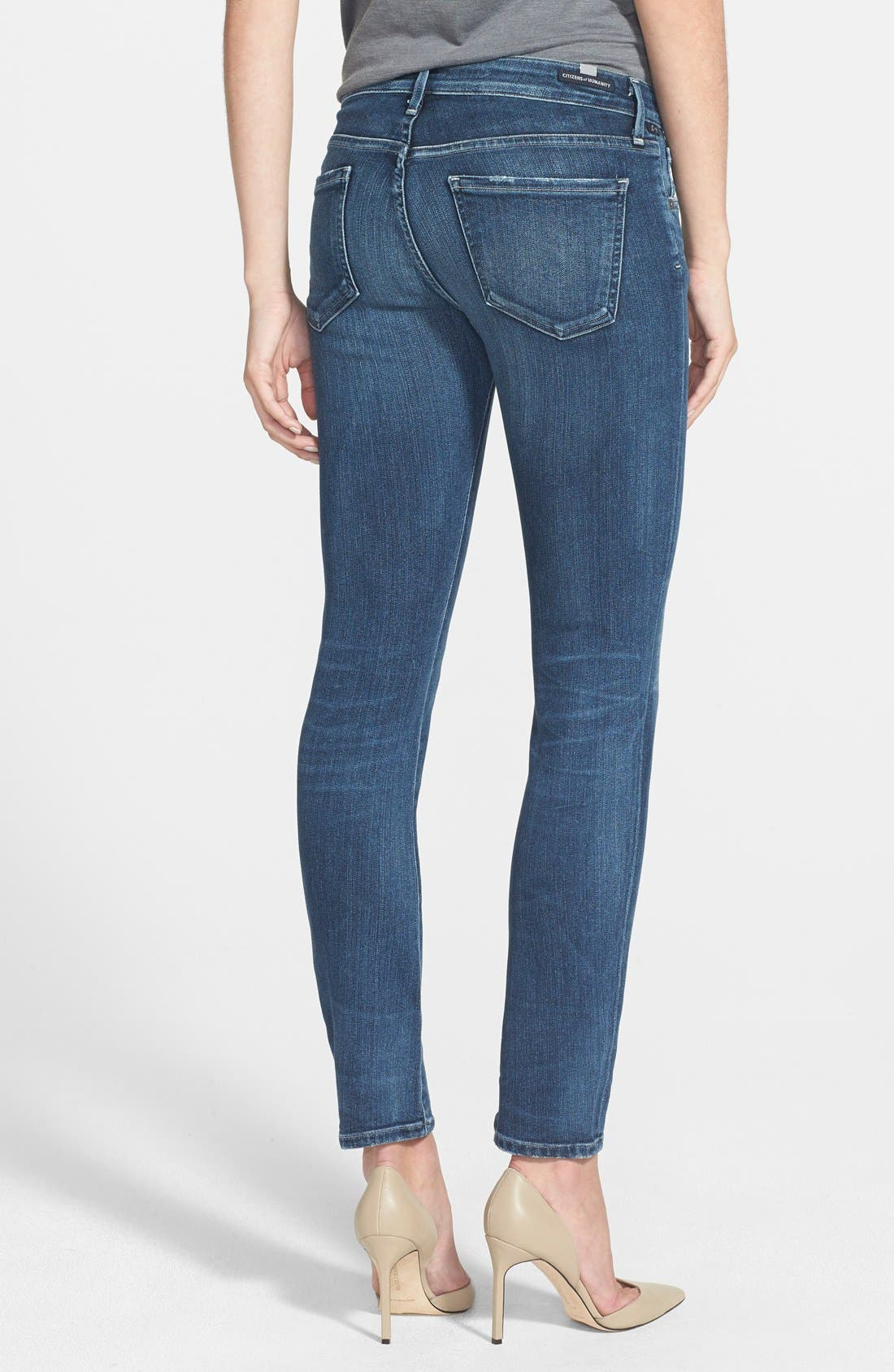Alternate Image 2  - Citizens of Humanity 'Arielle' Mid Rise Skinny Jeans (Hewett) (Petite)