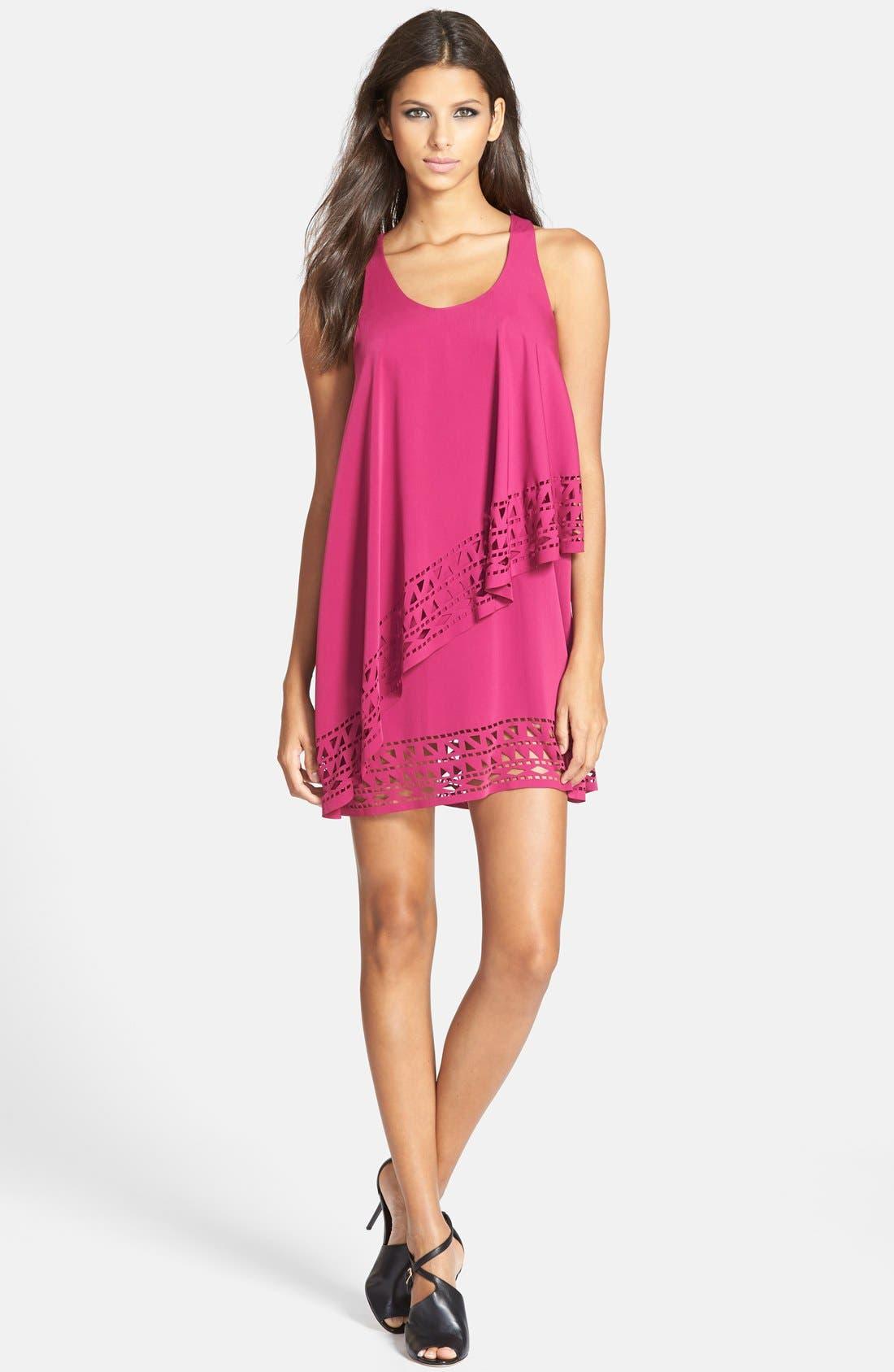 Alternate Image 3  - Jarlo 'Chloe' Tiered Jersey Trapeze Dress