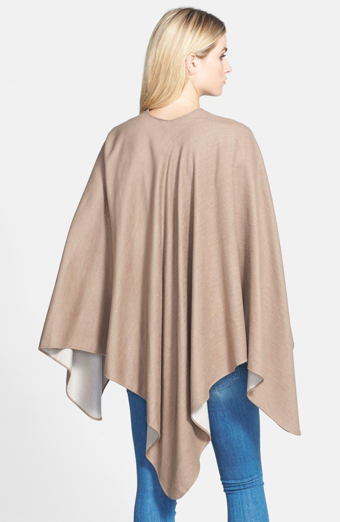 Alternate Image 3  - Chelsey Solid Reversible Silk Cape