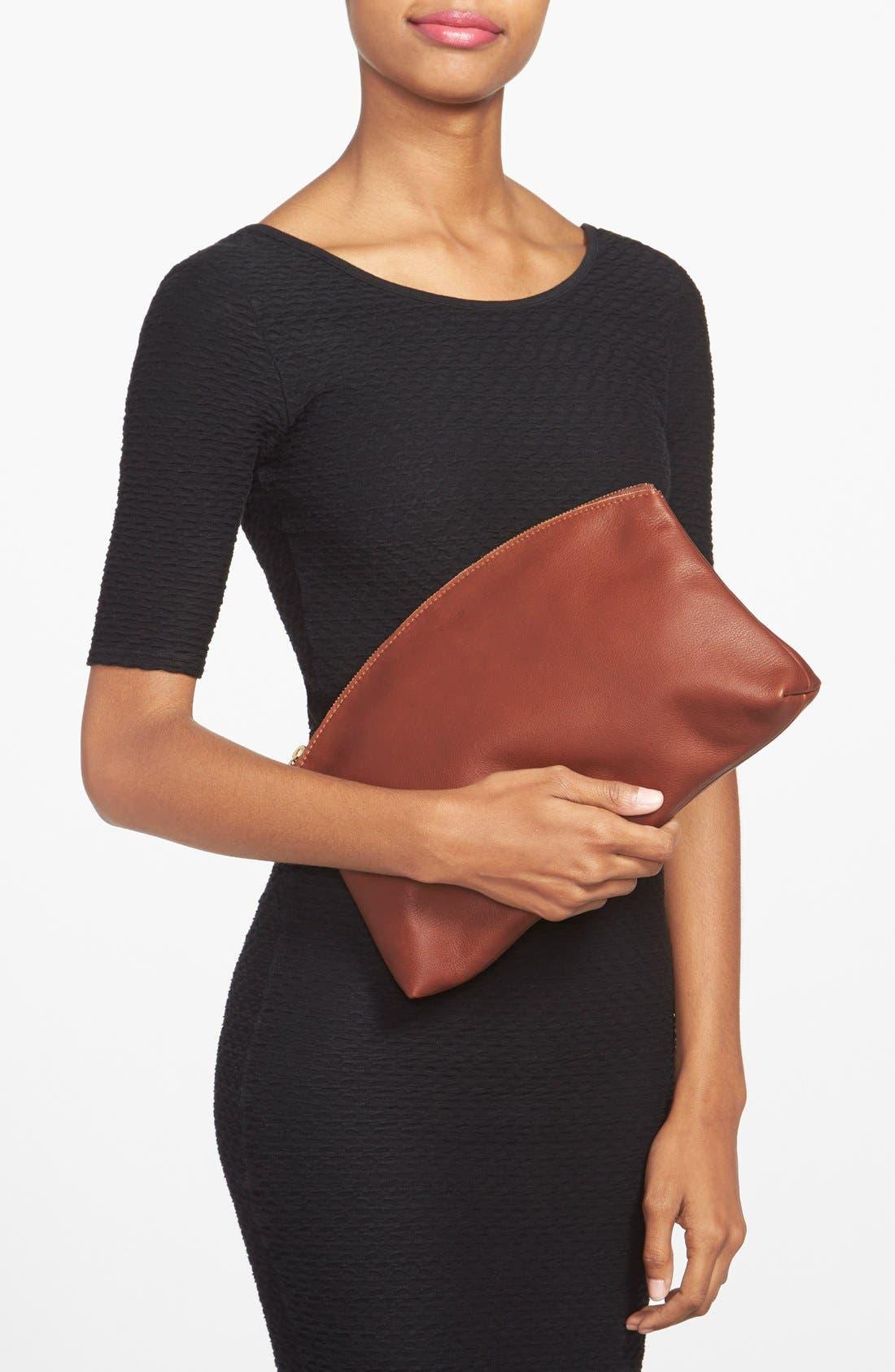 Alternate Image 2  - Baggu® Leather Clutch