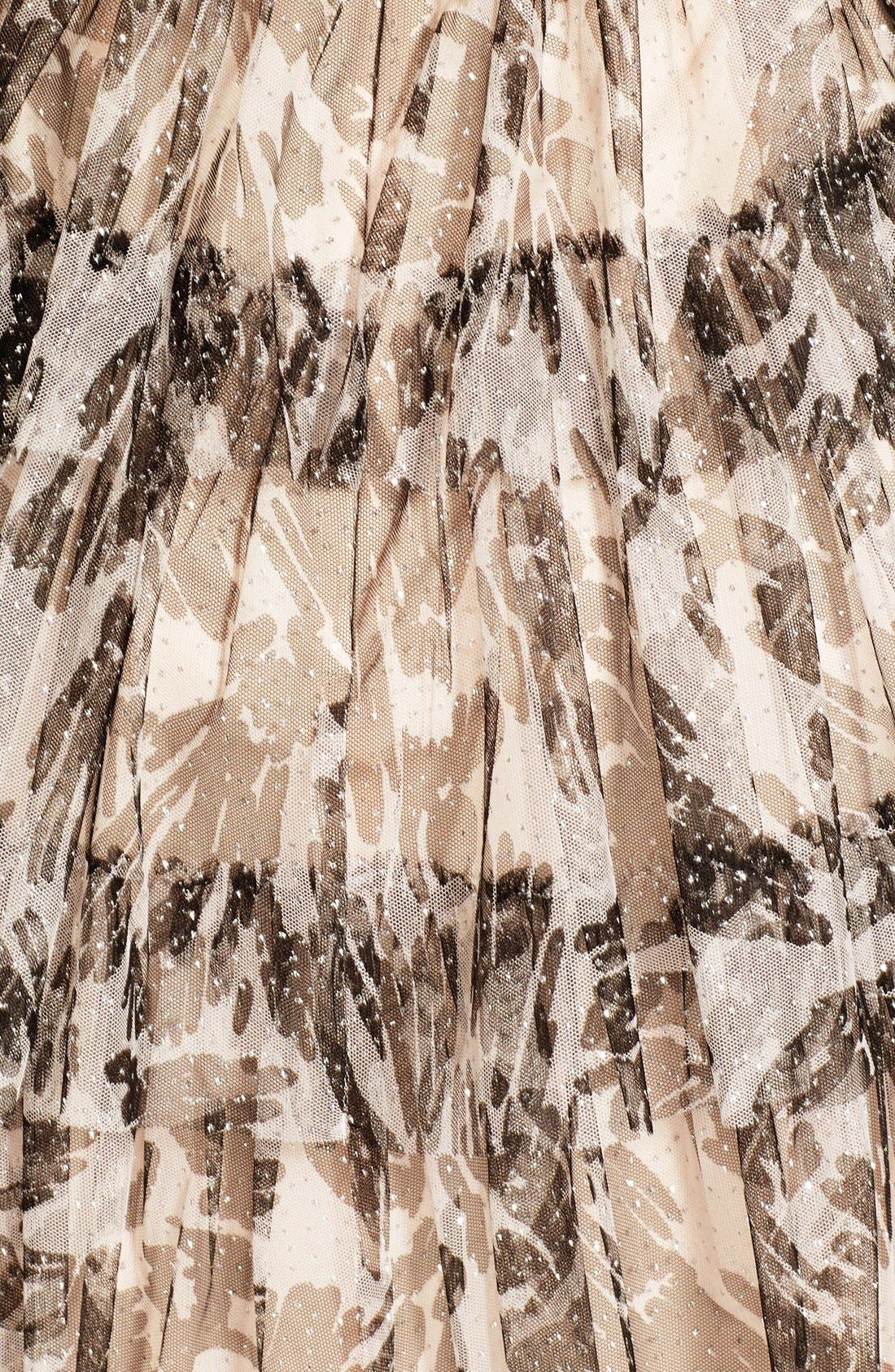 Alternate Image 4  - Hailey by Adrianna Papell Glitter Camo Print Tiered Dress