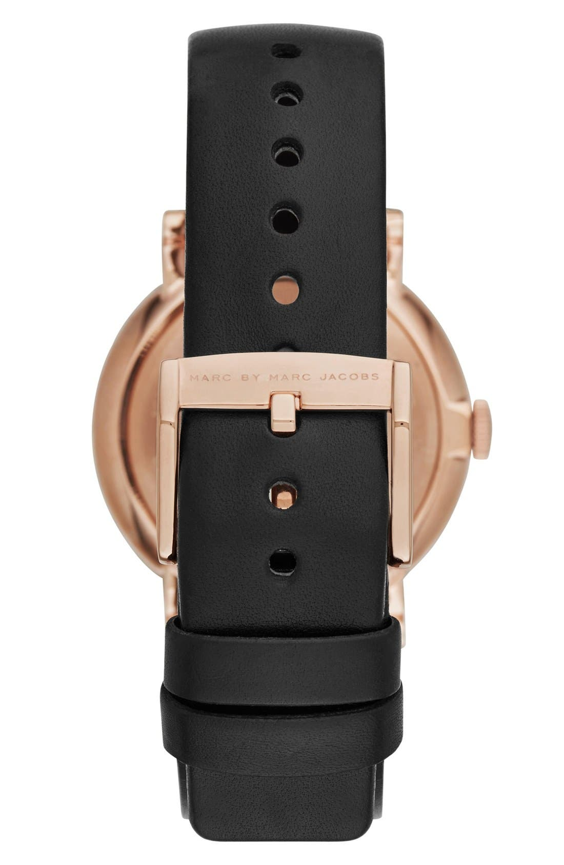 Alternate Image 2  - MARC JACOBS 'Baker' Leather Strap Watch, 37mm (Nordstrom Exclusive)