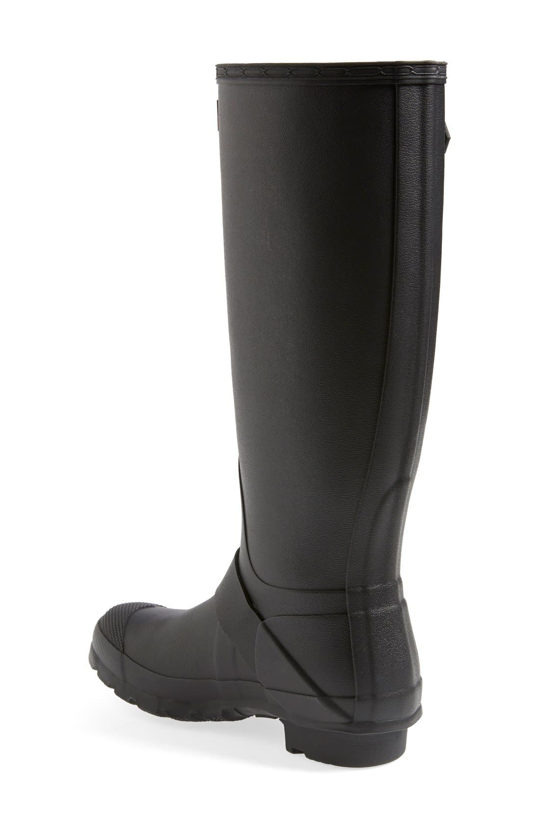 Alternate Image 2  - Hunter 'Tall Moto' Rain Boot (Nordstrom Exclusive) (Women)