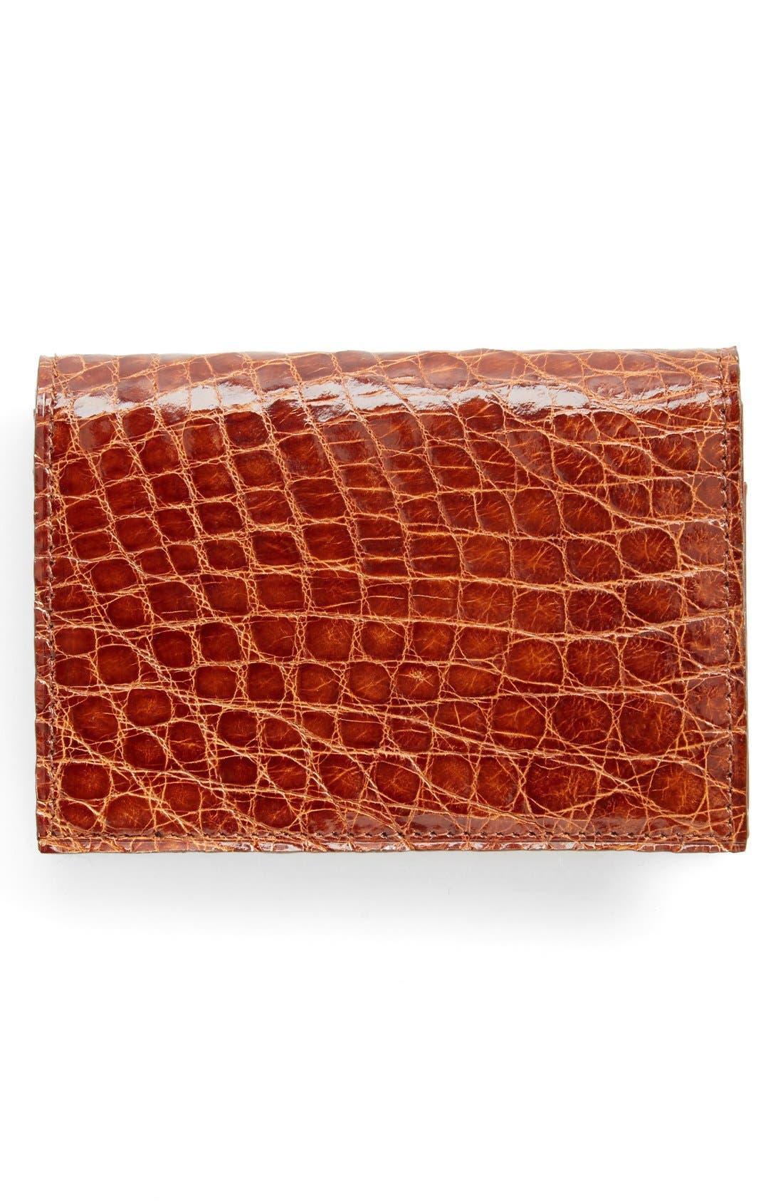 Boconi Crocodile Card Case