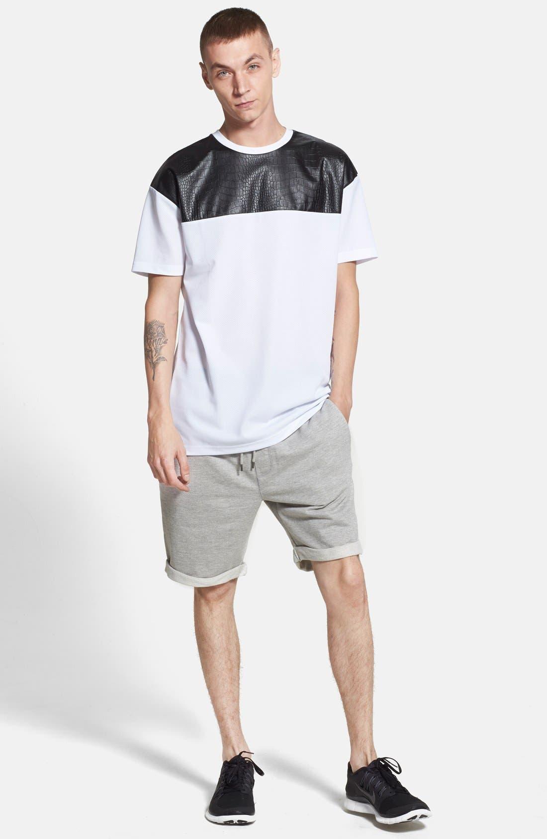 Alternate Image 6  - Topman  Trim Fit Jersey Sweatshorts