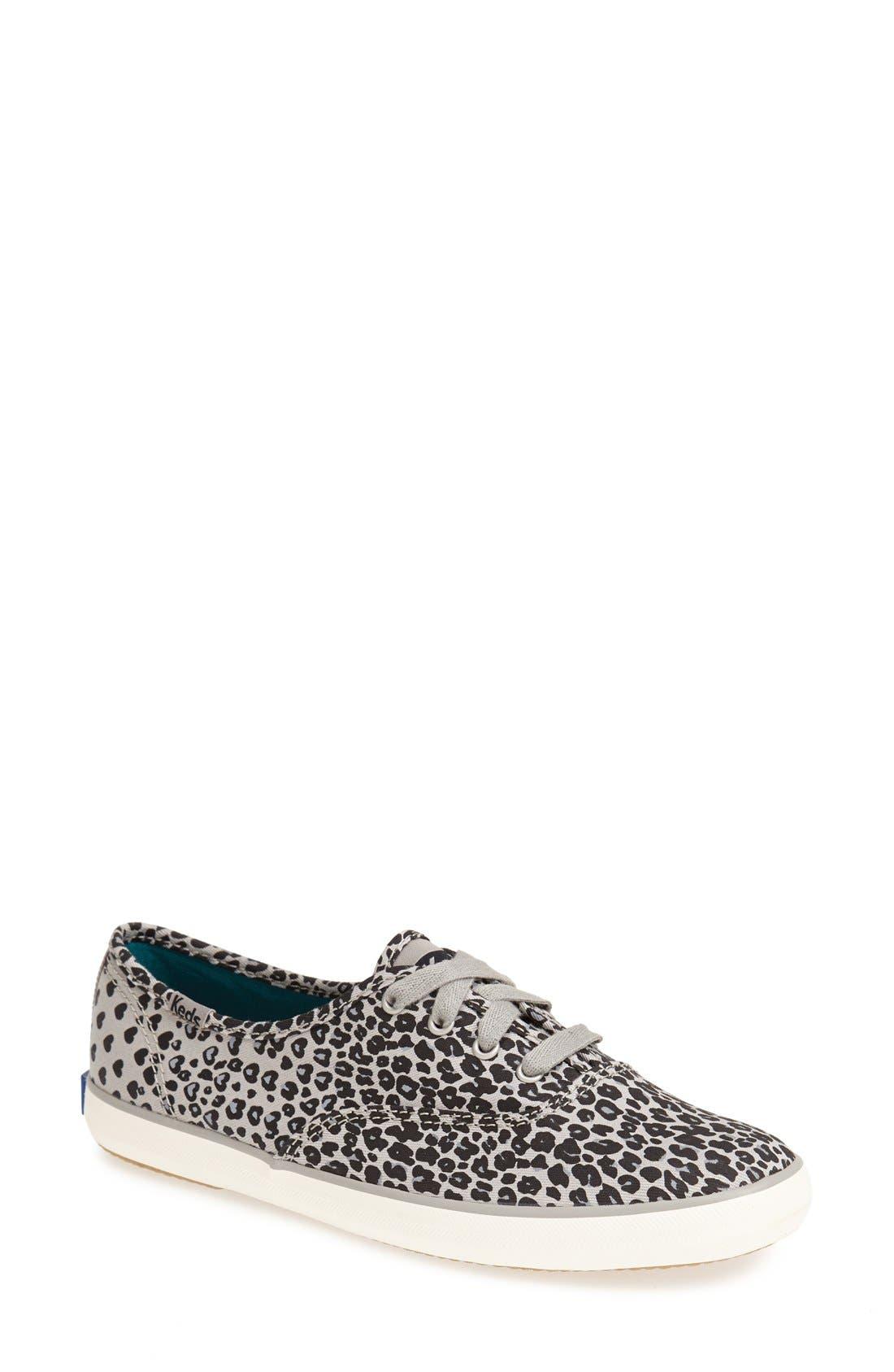 Alternate Image 1 Selected - Keds® 'Champion - Leopard' Sneaker (Women)